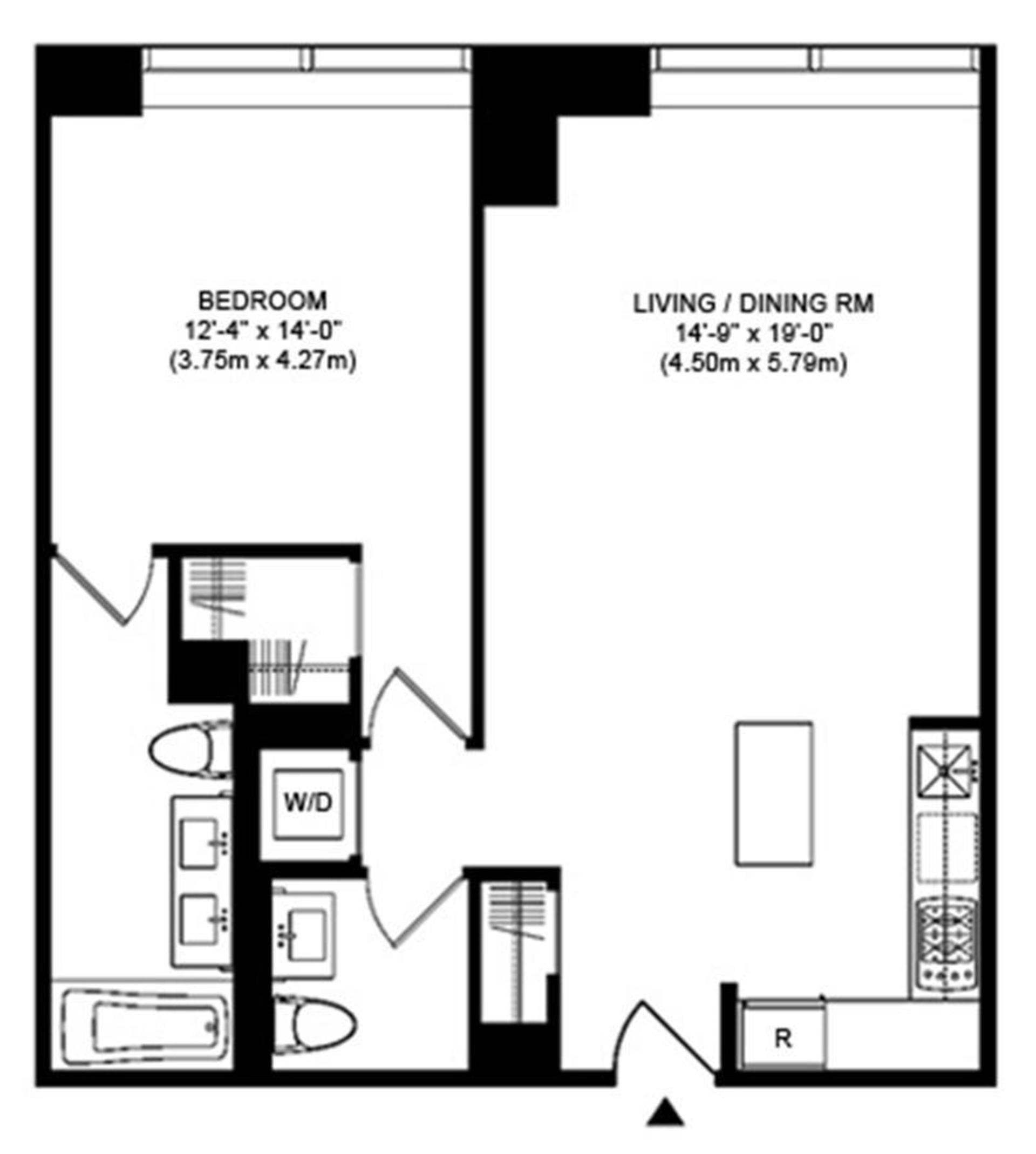 Floor plan of 75 Wall St, 24K - Financial District, New York