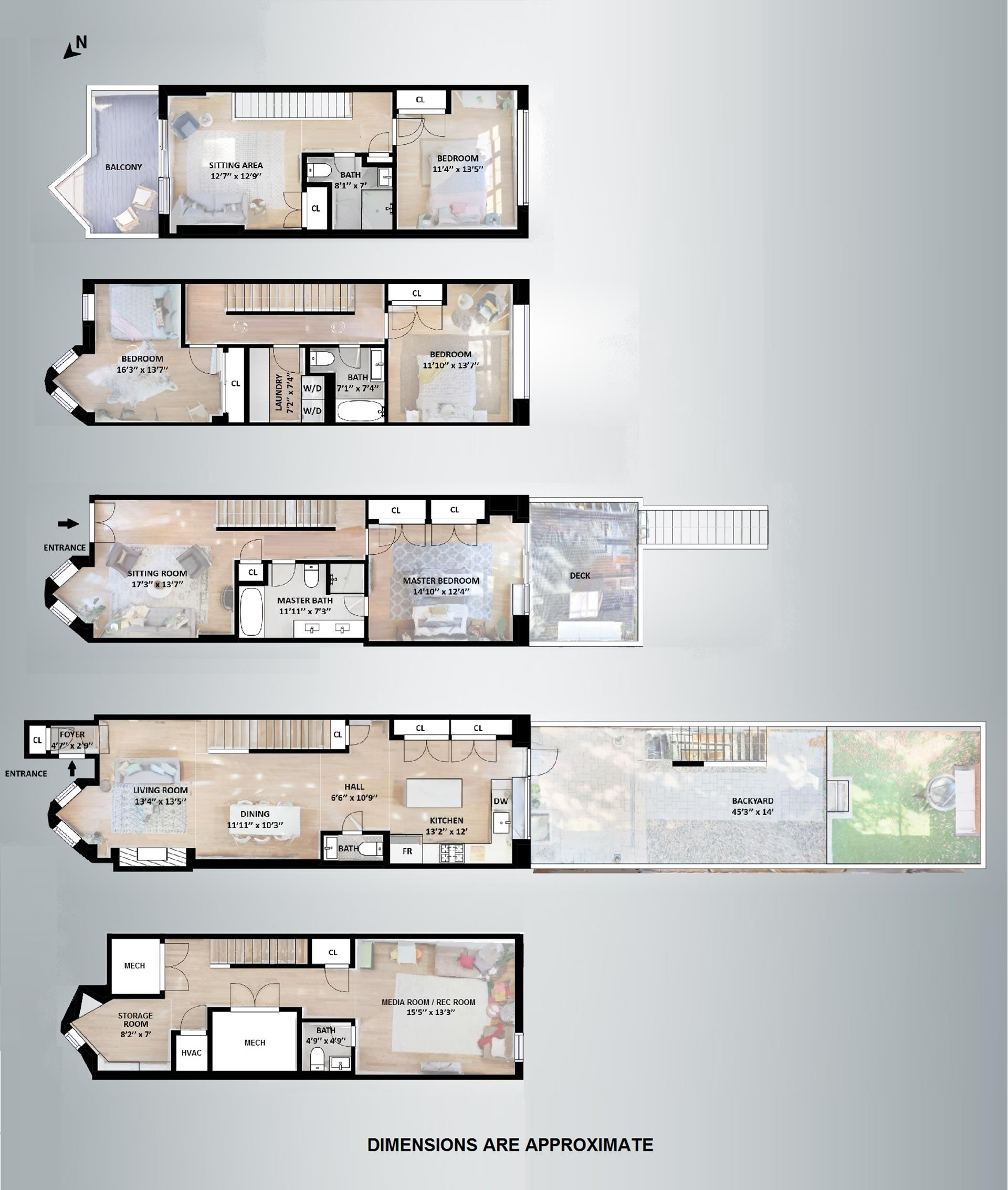 Floor plan of 378A 5th St - Park Slope, New York