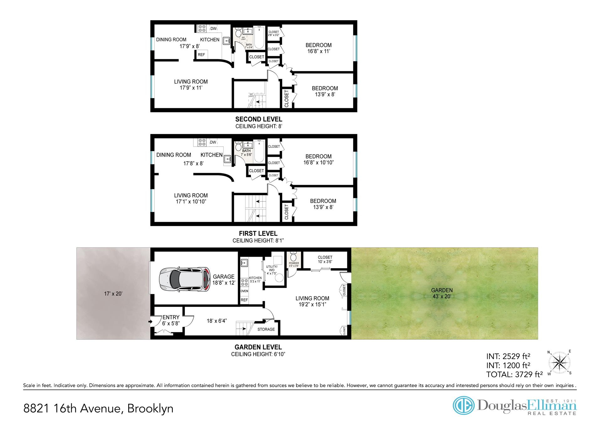 Floor plan of 8821 16th Avenue - Bath Beach, New York