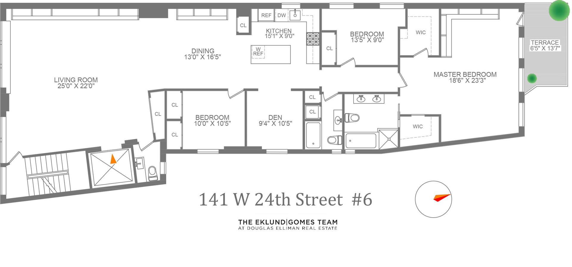 Floor plan of THE GLASSWORKS, 141 West 24th St, 6FL - Chelsea, New York