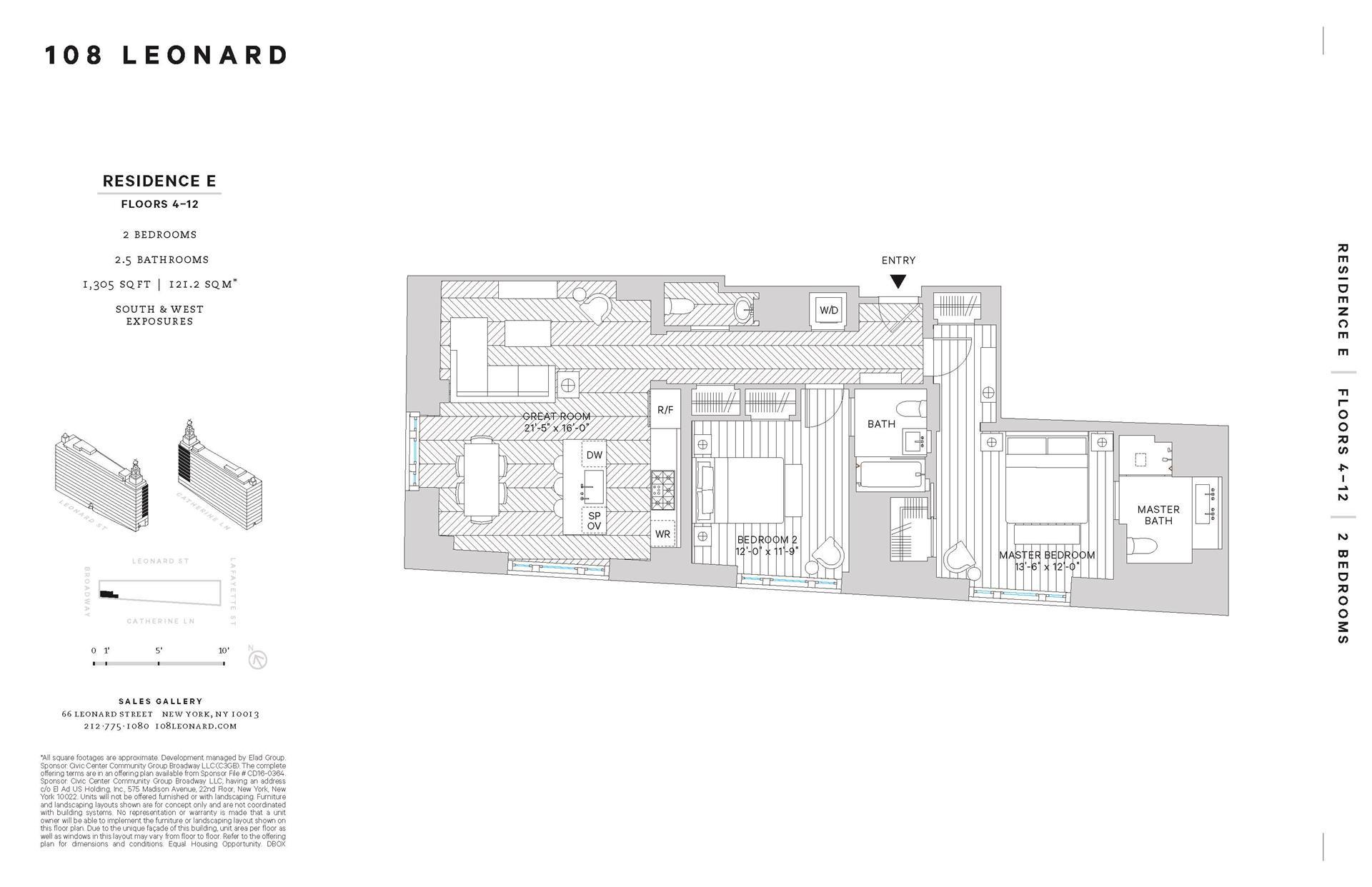Floor plan of 108 Leonard St, 10E - TriBeCa, New York