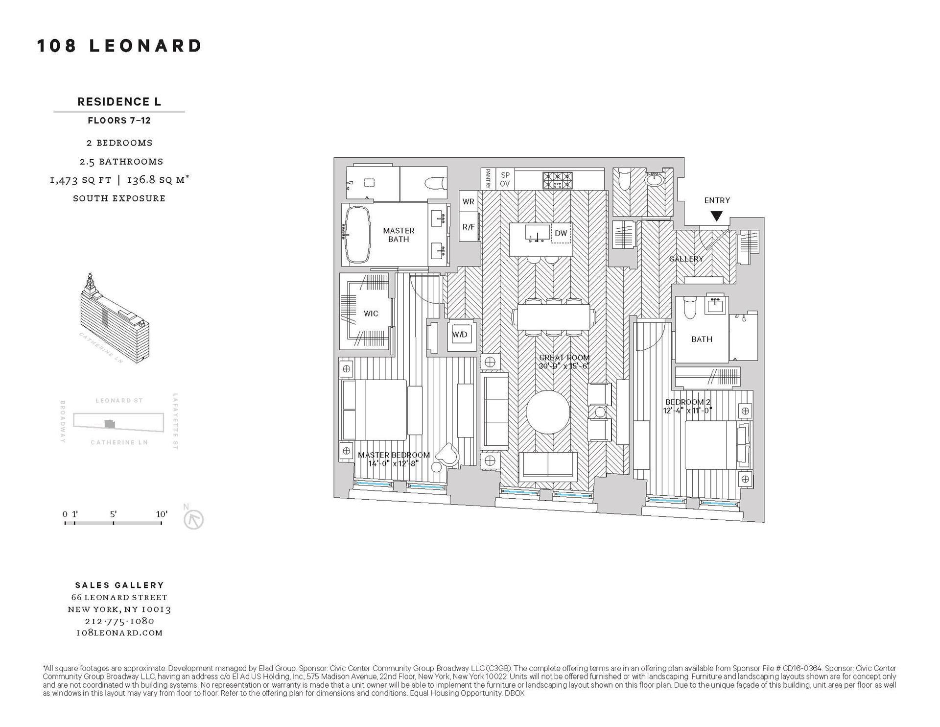 Floor plan of 108 Leonard St, 10L - TriBeCa, New York