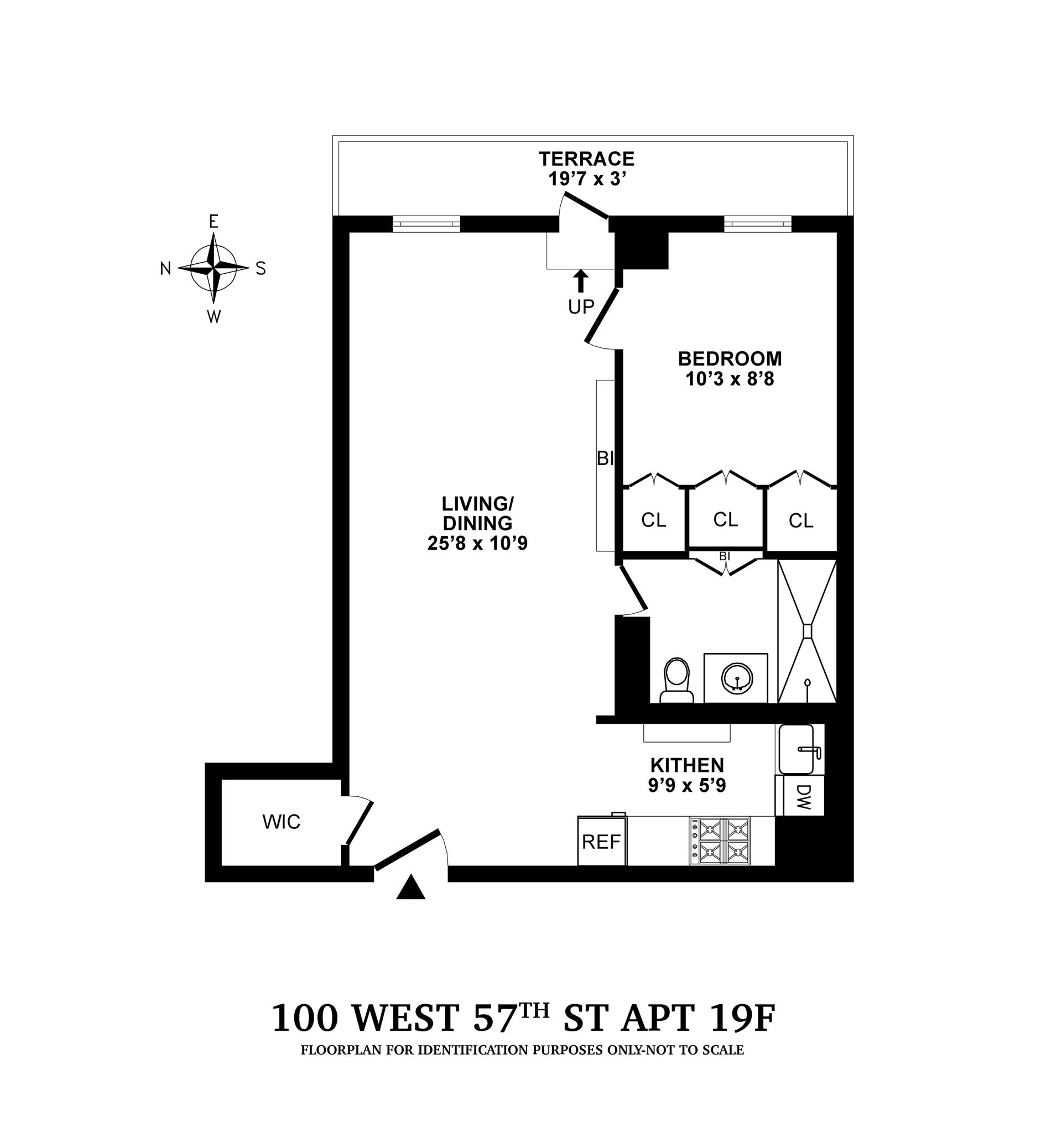 Floor plan of CARNEGIE HOUSE, 100 West 57th St, 19F - Midtown, New York