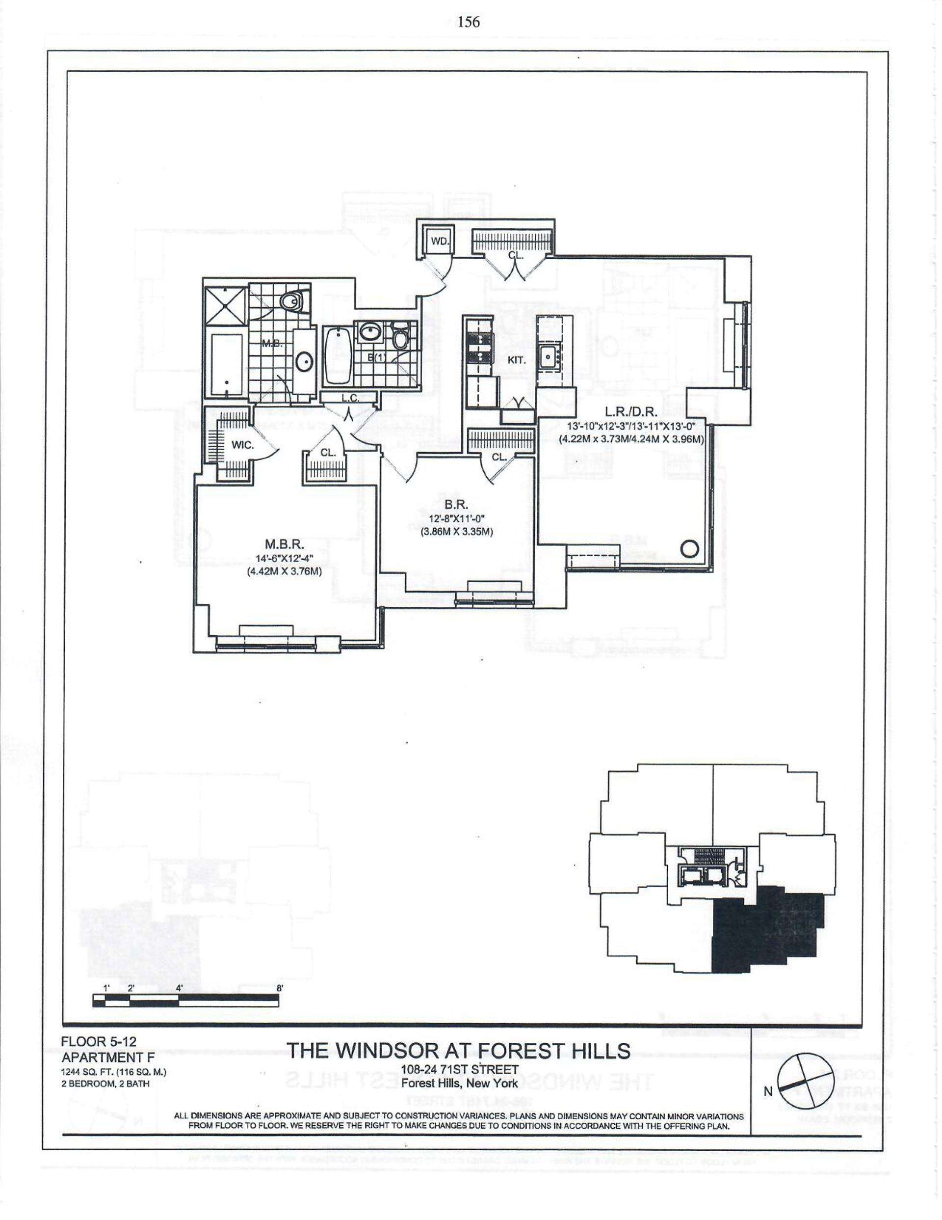 Floor plan of 107-24 71st Rd, 6F - Forest Hills, New York