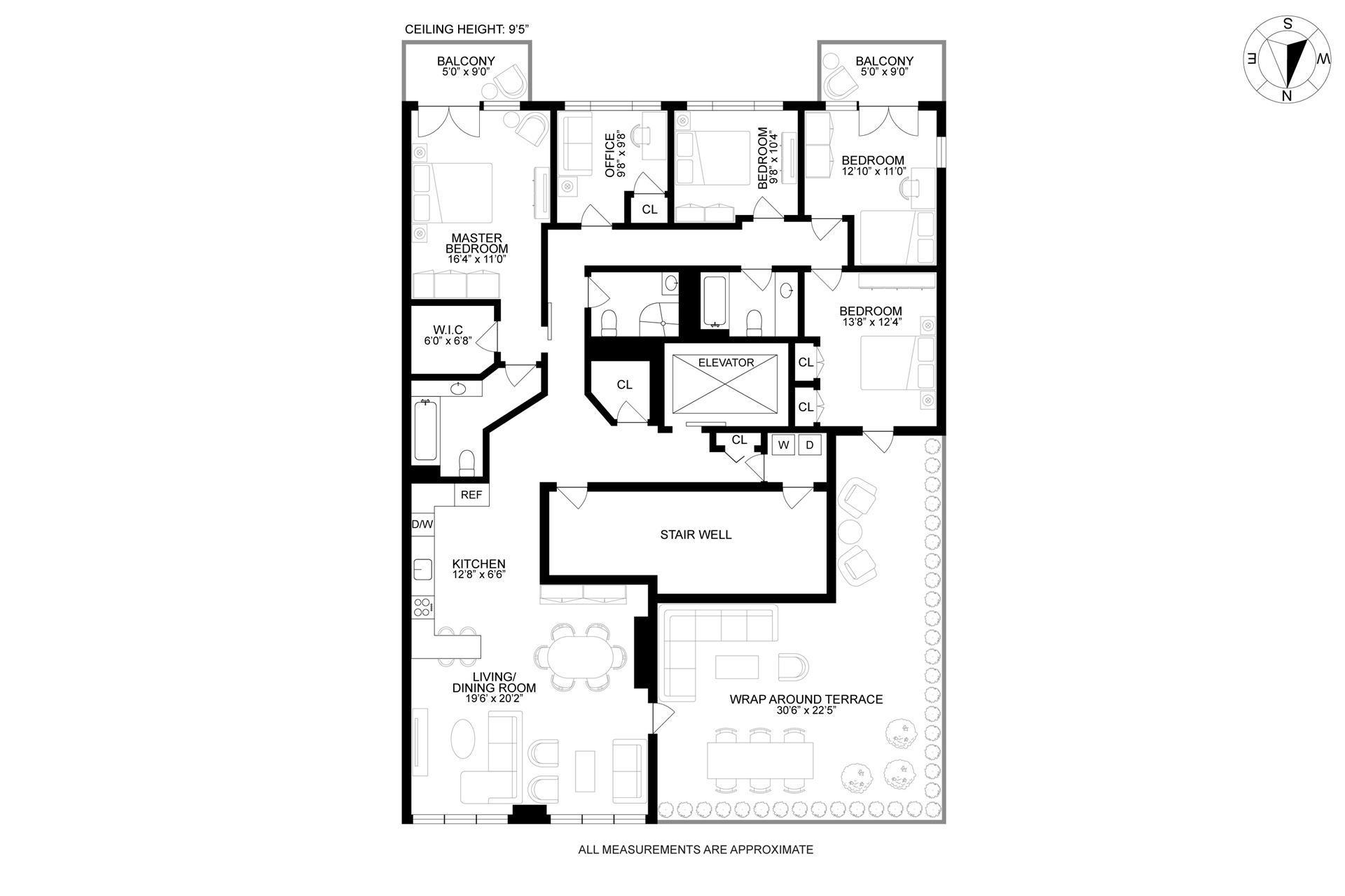 Floor plan of 659 Bergen St, PHA - Prospect Heights, New York