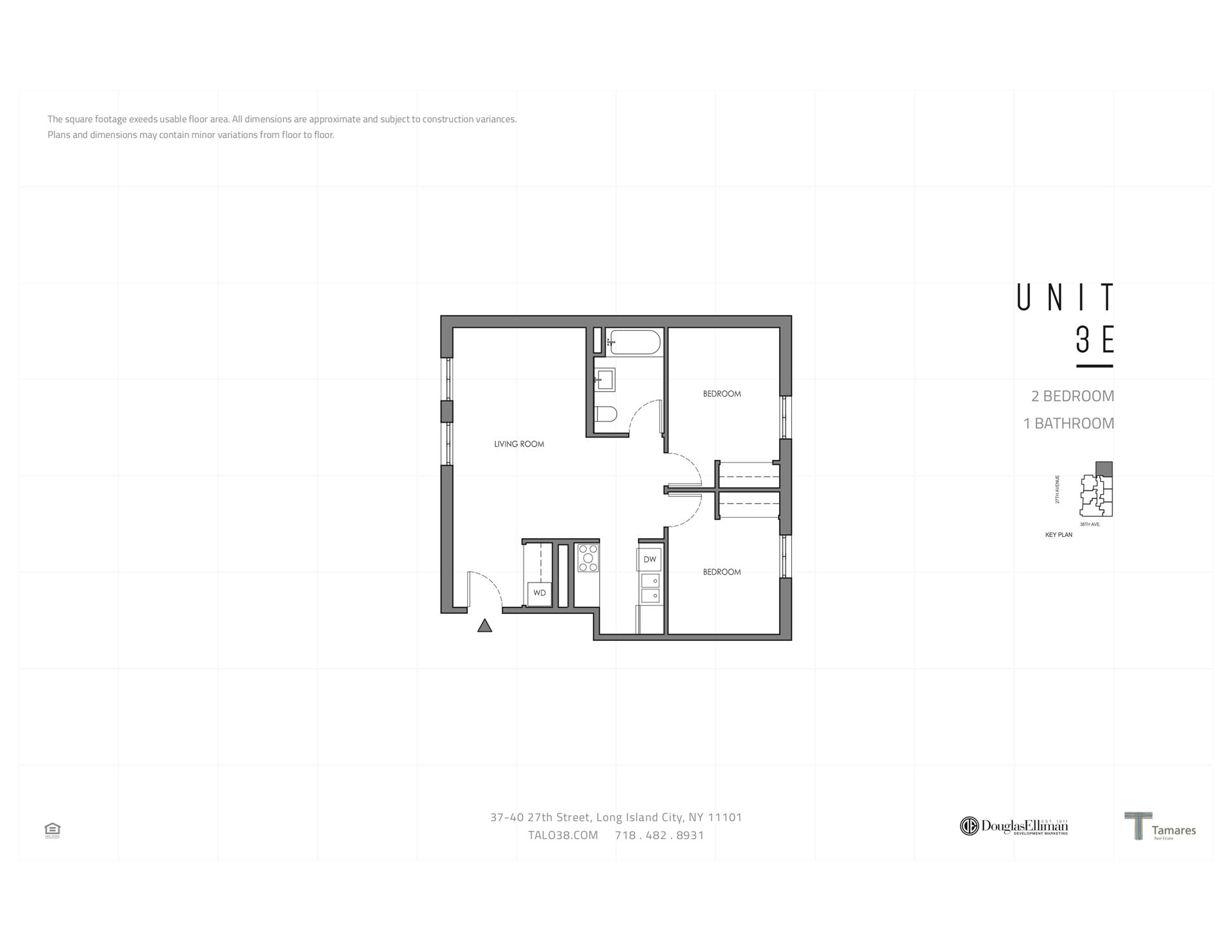 Floor plan of 37-40 27th St, 3E - Long Island City, New York