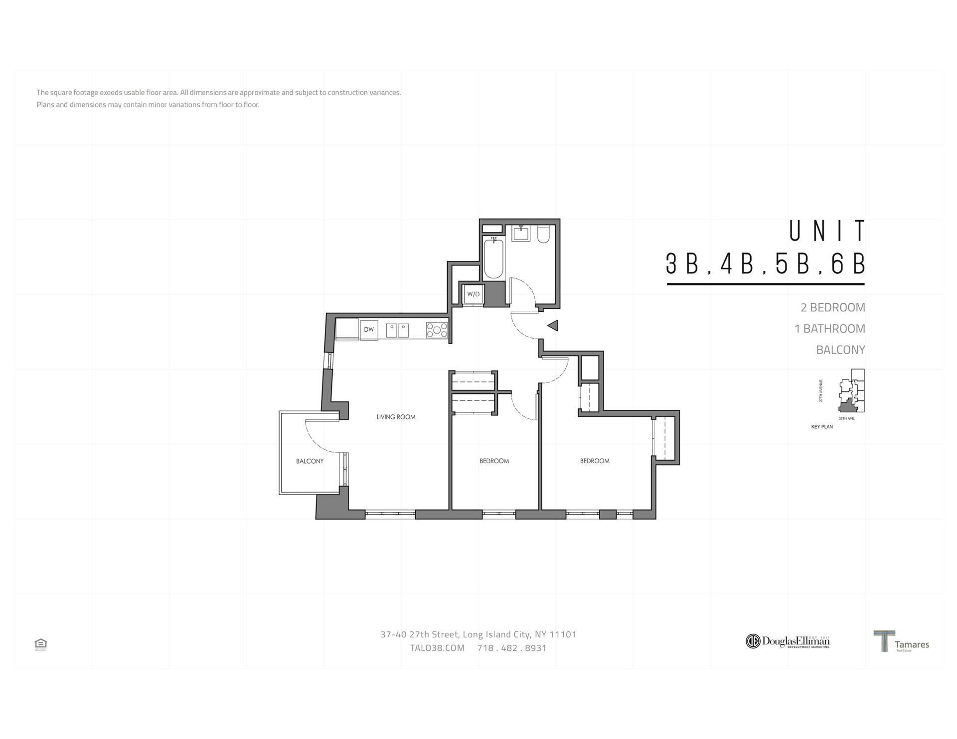 Floor plan of 37-40 27th St, 5B - Long Island City, New York