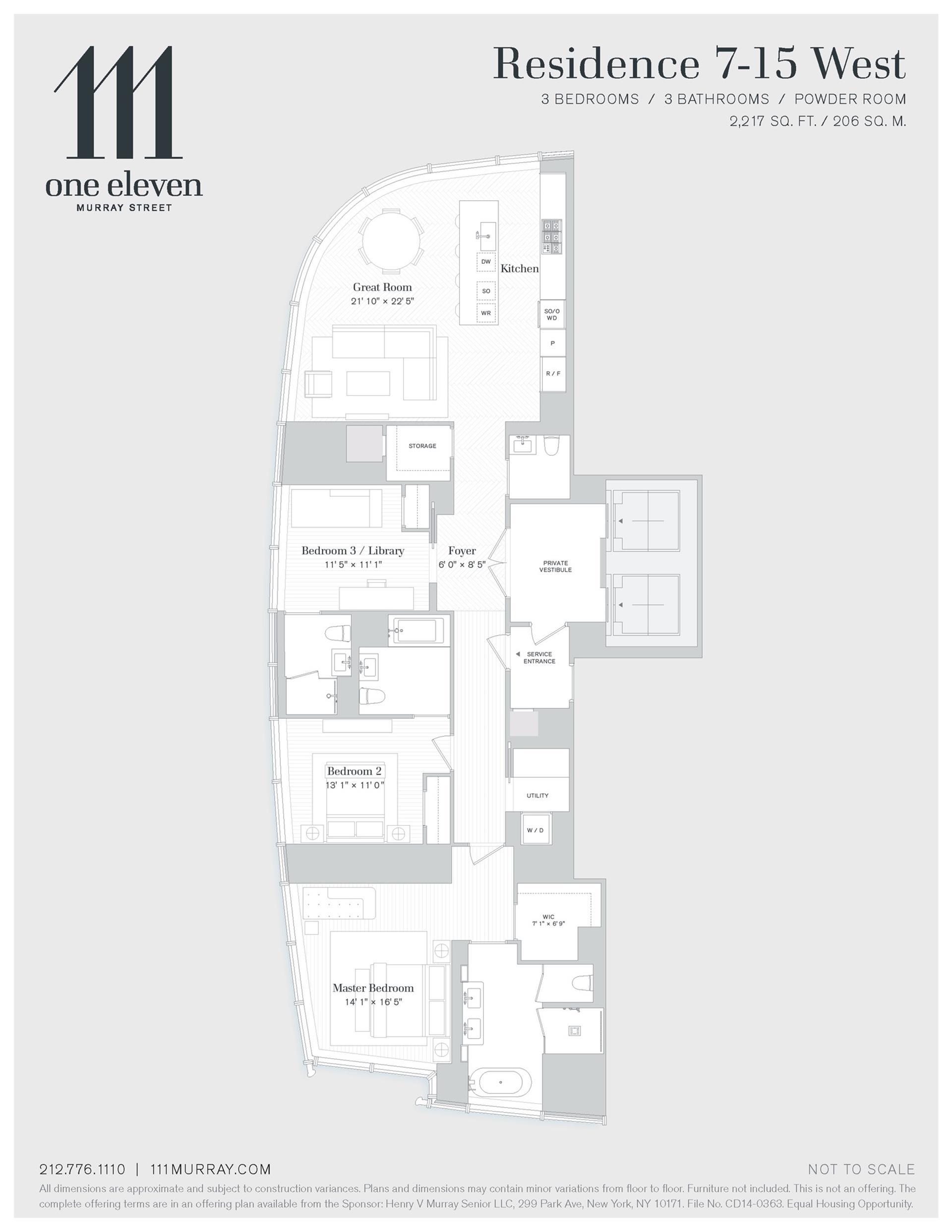 Floor plan of 111 Murray St, 8WEST - TriBeCa, New York