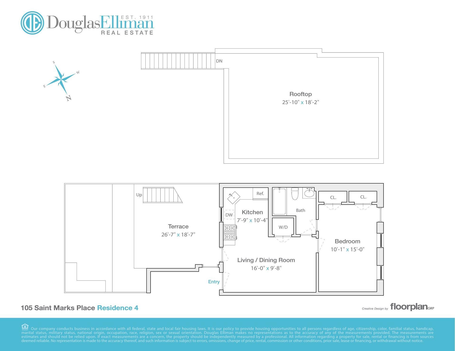 Floor plan of 105 St Marks Pl, 4 - Park Slope, New York