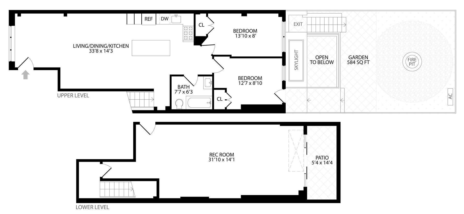 Floor plan of 219 Weirfield St, 1 - Bushwick, New York