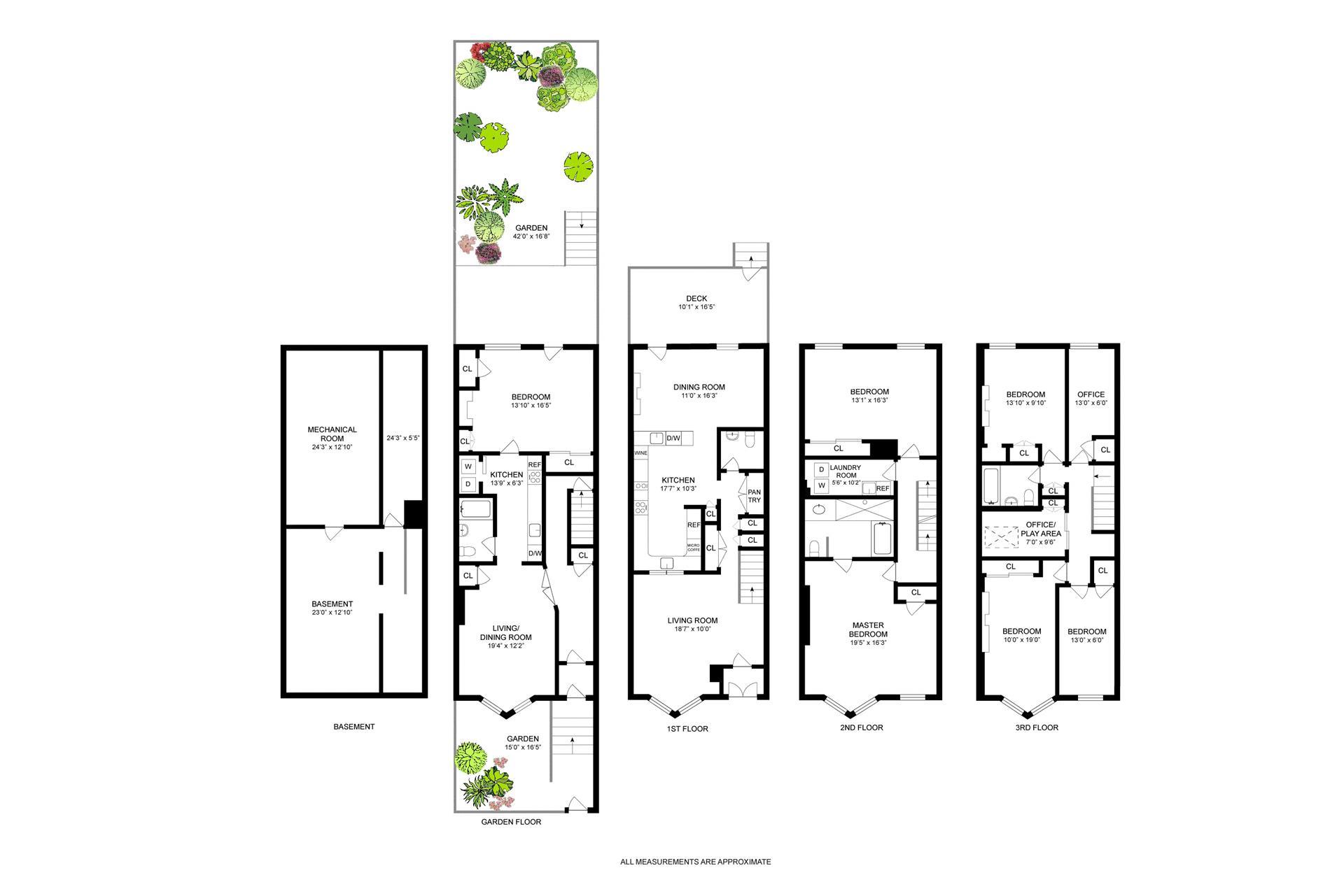 Floor plan of 121 St Johns Pl - Park Slope, New York