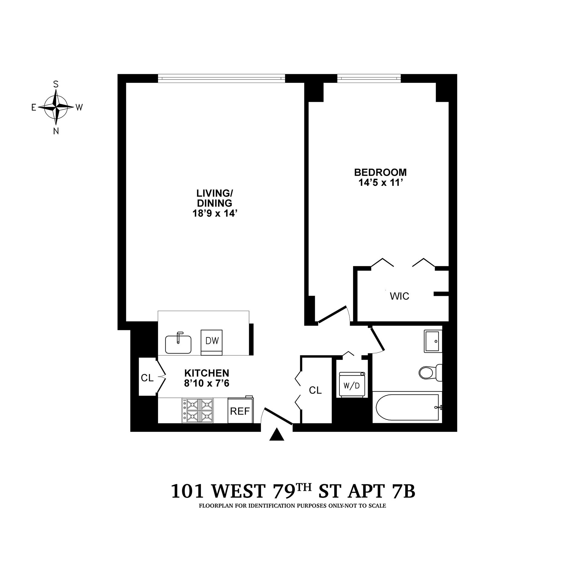 Floor plan of The Park Belvedere, 101 West 79th St, 7B - Upper West Side, New York