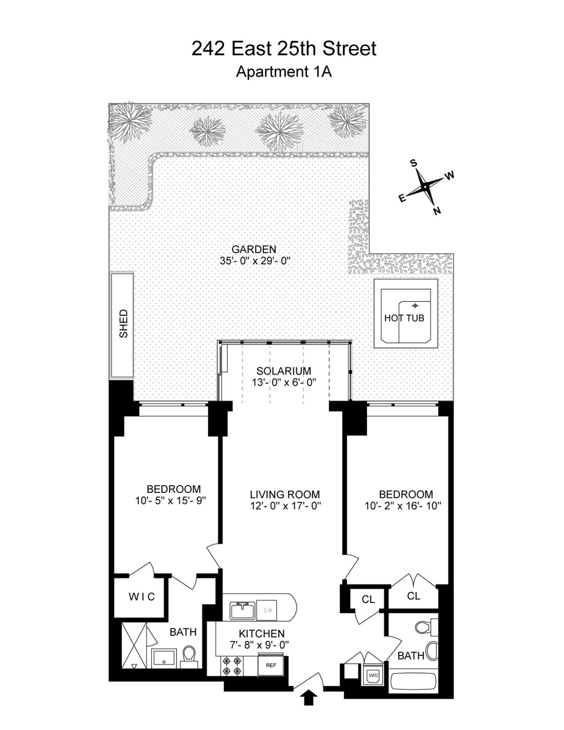 Floor plan of 242 East 25th St, GRDNA - Kips Bay, New York