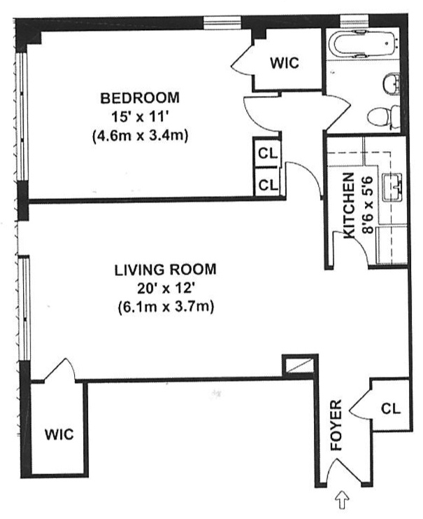 Floor plan of 240 East 55th Street, 14A