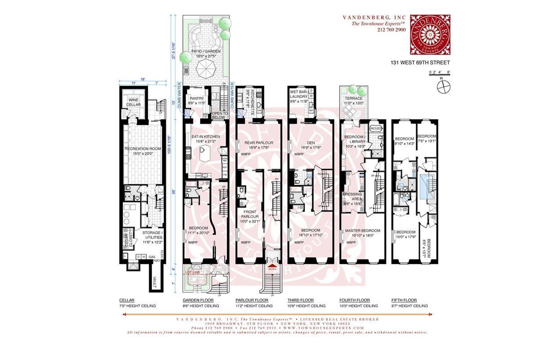 Floor plan of 131 West 69th Street - Upper West Side, New York