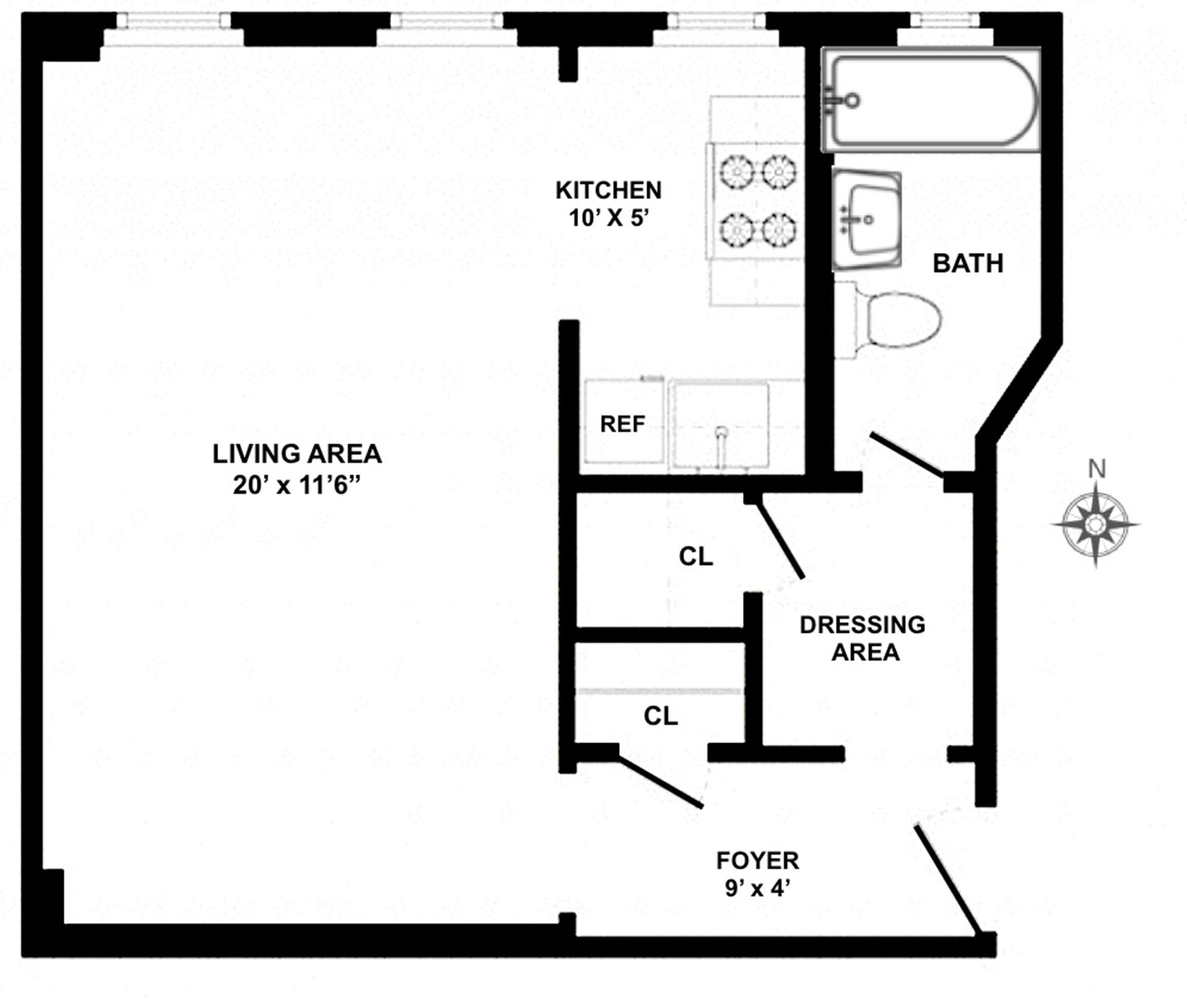 Floor plan of 129 West 89th St, 38 - Upper West Side, New York