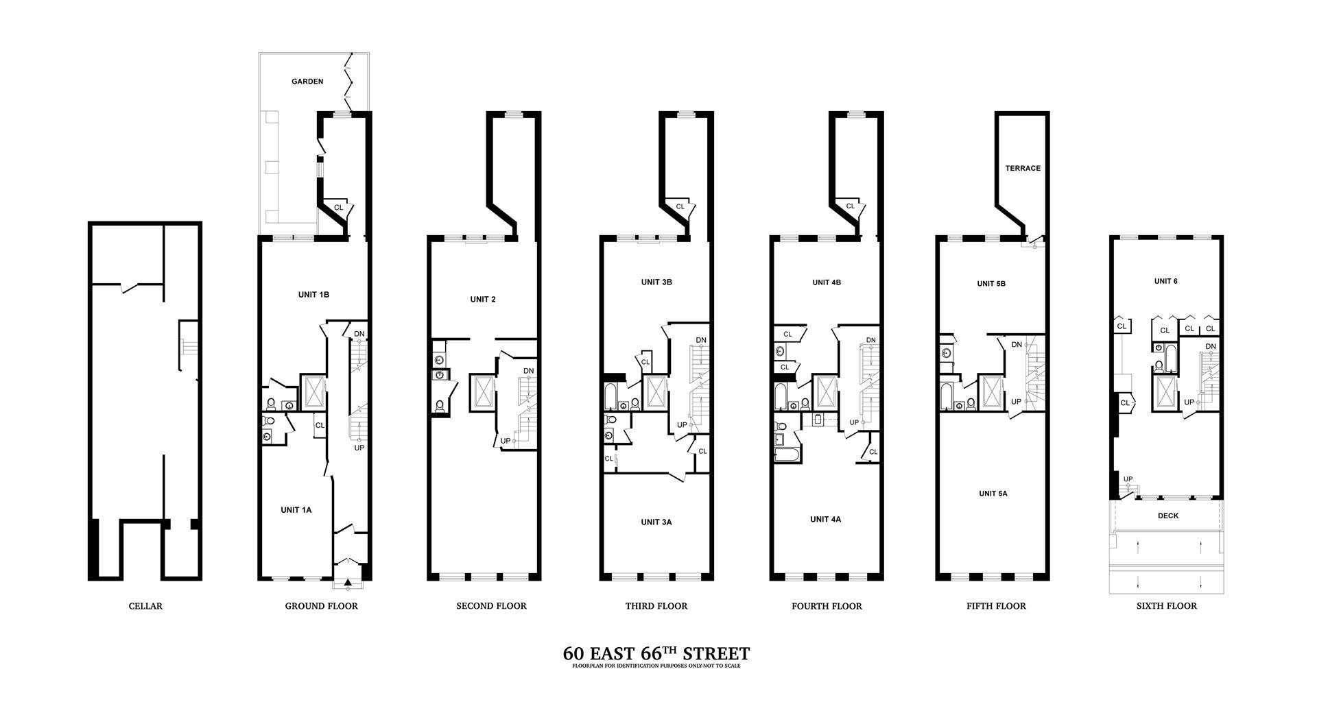 Floor plan of 60 East 66th St - Upper East Side, New York