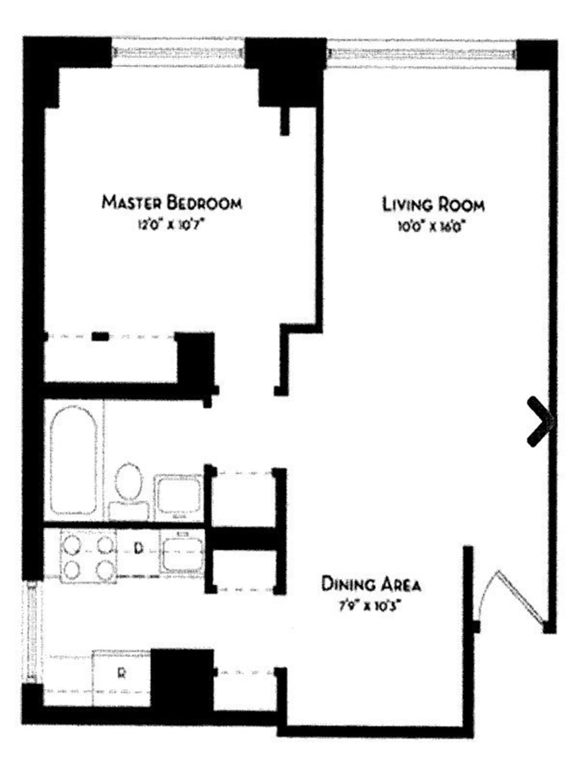 Floor plan of L'Ecole Condominium, 212 East 47th St, 16AF - Turtle Bay, New York