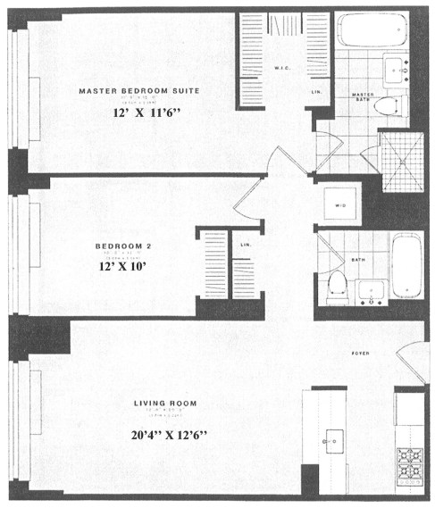 Floor plan of AVERY, 100 Riverside Boulevard, 12H - Upper West Side, New York