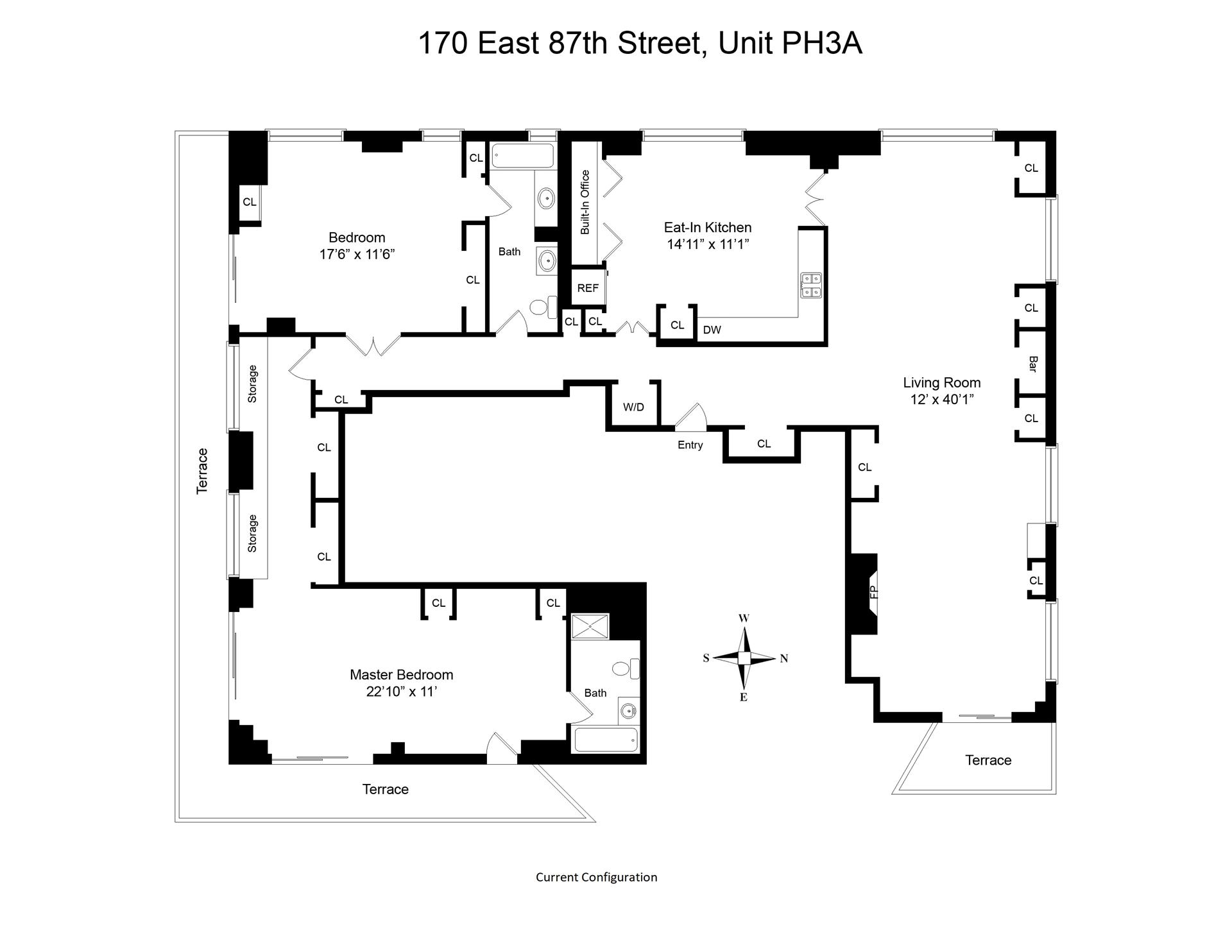 Floor plan of 170 East 87th St, PH3 - Upper East Side, New York