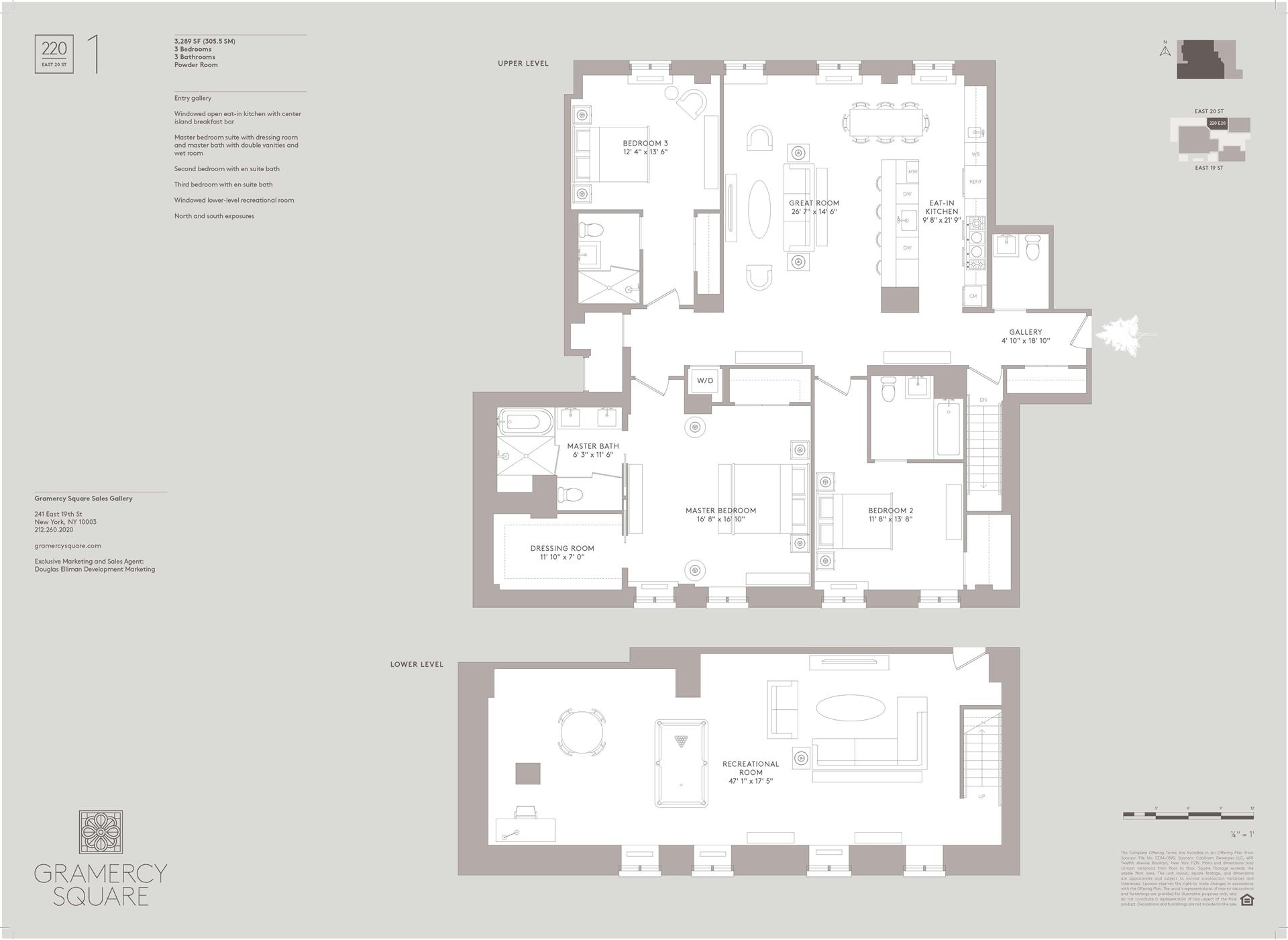 Floor plan of Gramercy Square, 220 East 20th St, MAIS1 - Gramercy - Union Square, New York