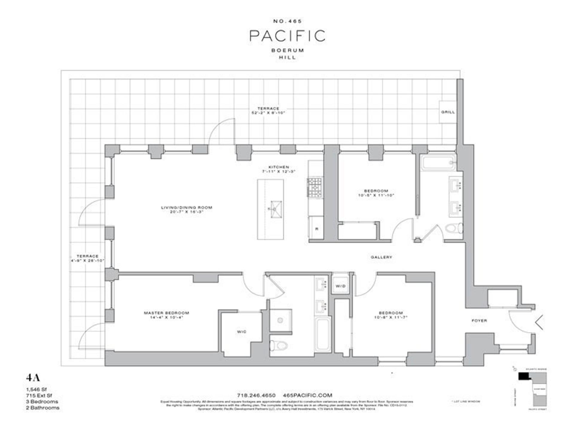Floor plan of 465 Pacific St, 4A - Boerum Hill, New York