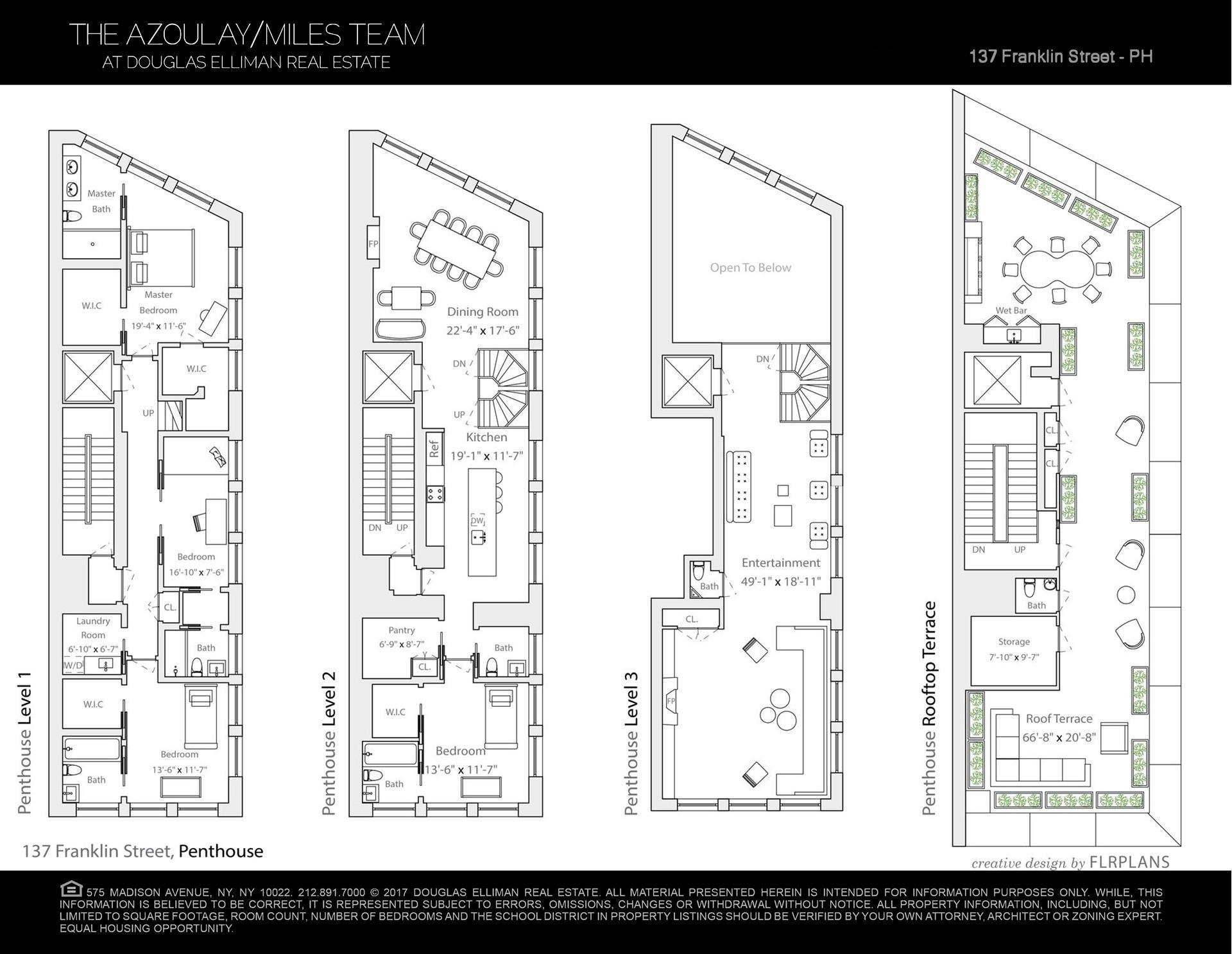 Floor plan of 137 Franklin St, PH - TriBeCa, New York