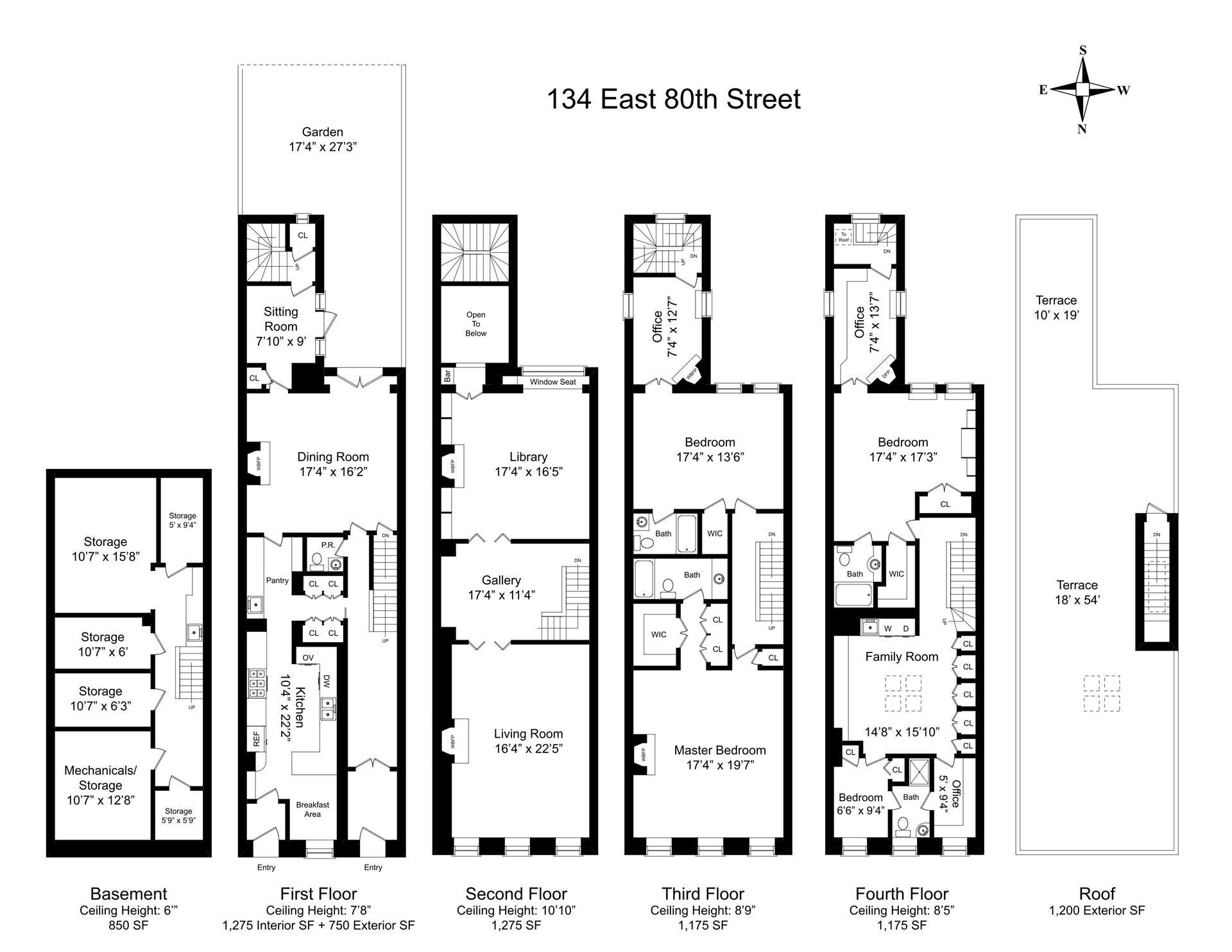 Floor plan of 134 East 80th St - Upper East Side, New York