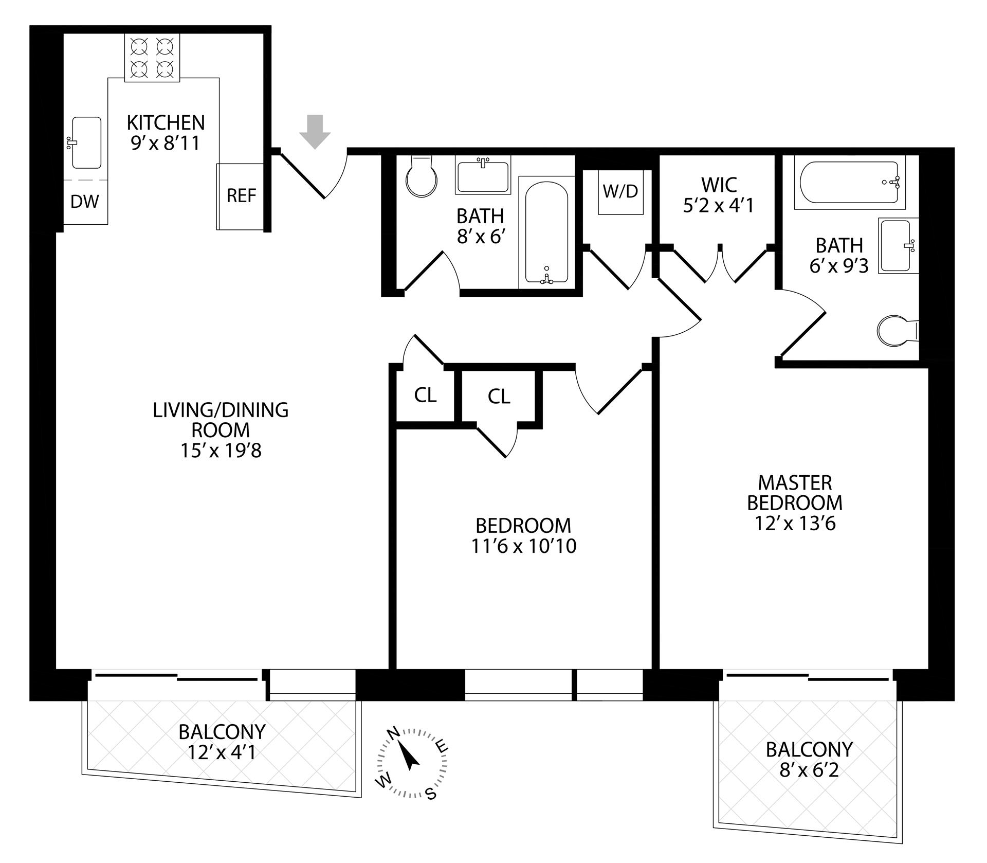 Floor plan of 267 Evergreen Avenue, 3A - Bushwick, New York