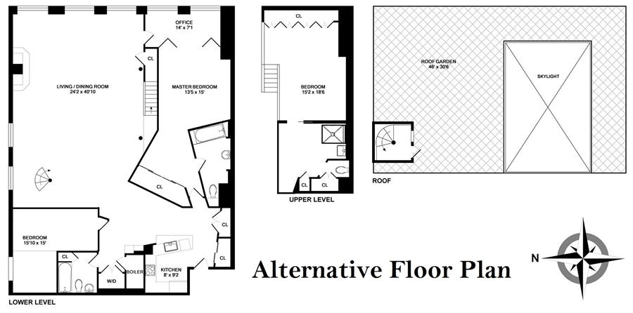 Floor plan of LYALL HOUSE, 35 Wooster St, PH5F - SoHo - Nolita, New York