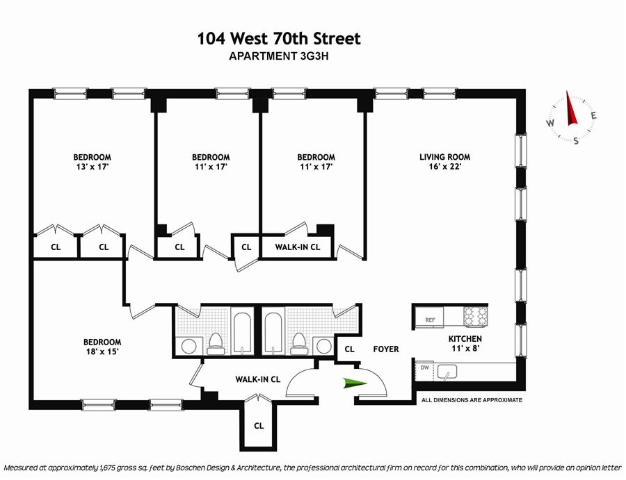 Floor plan of THE WALTON, 104 West 70th Street, 3G3H - Upper West Side, New York