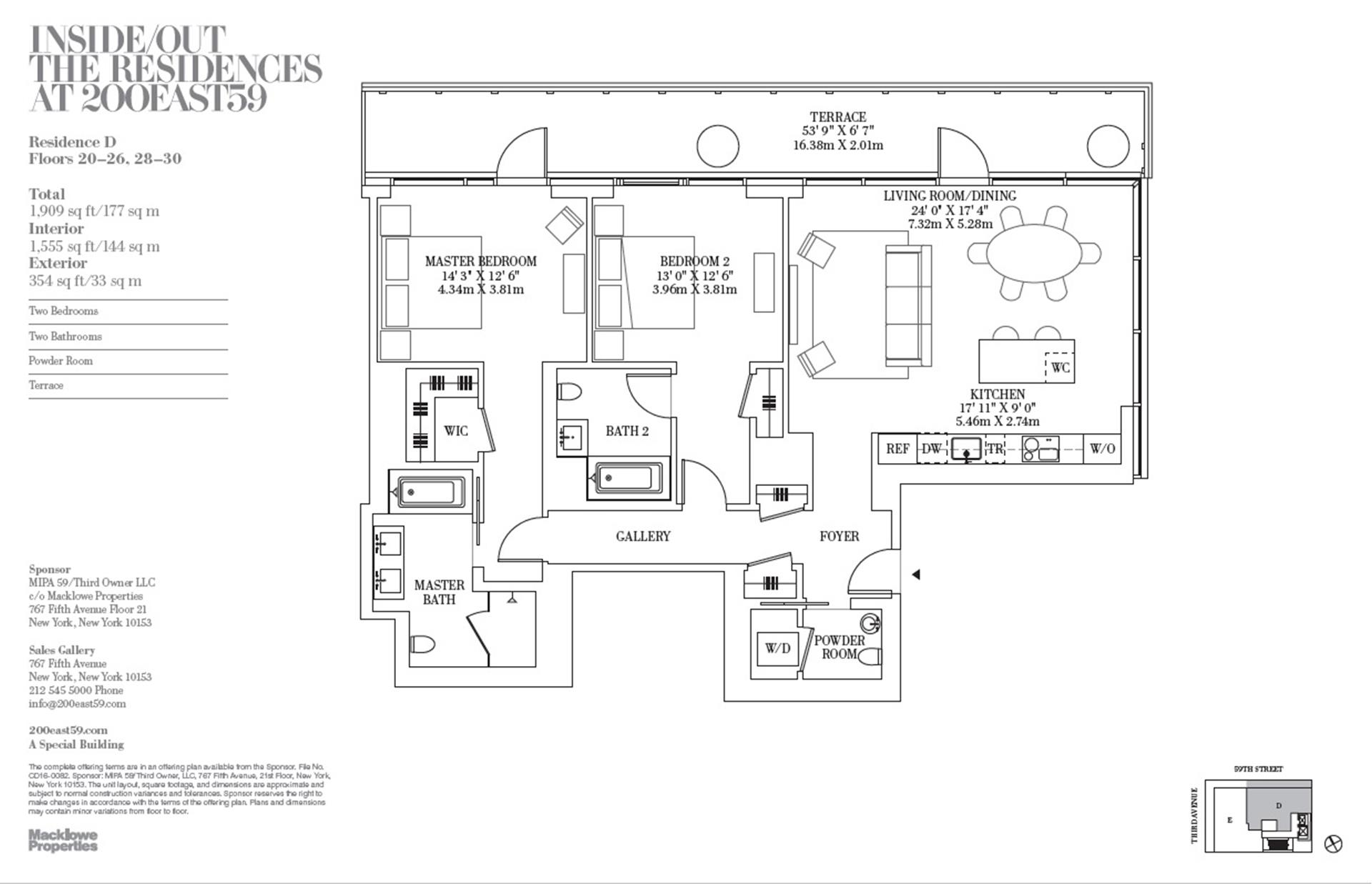 Floor plan of 200 East 59th St, 21D - Midtown, New York