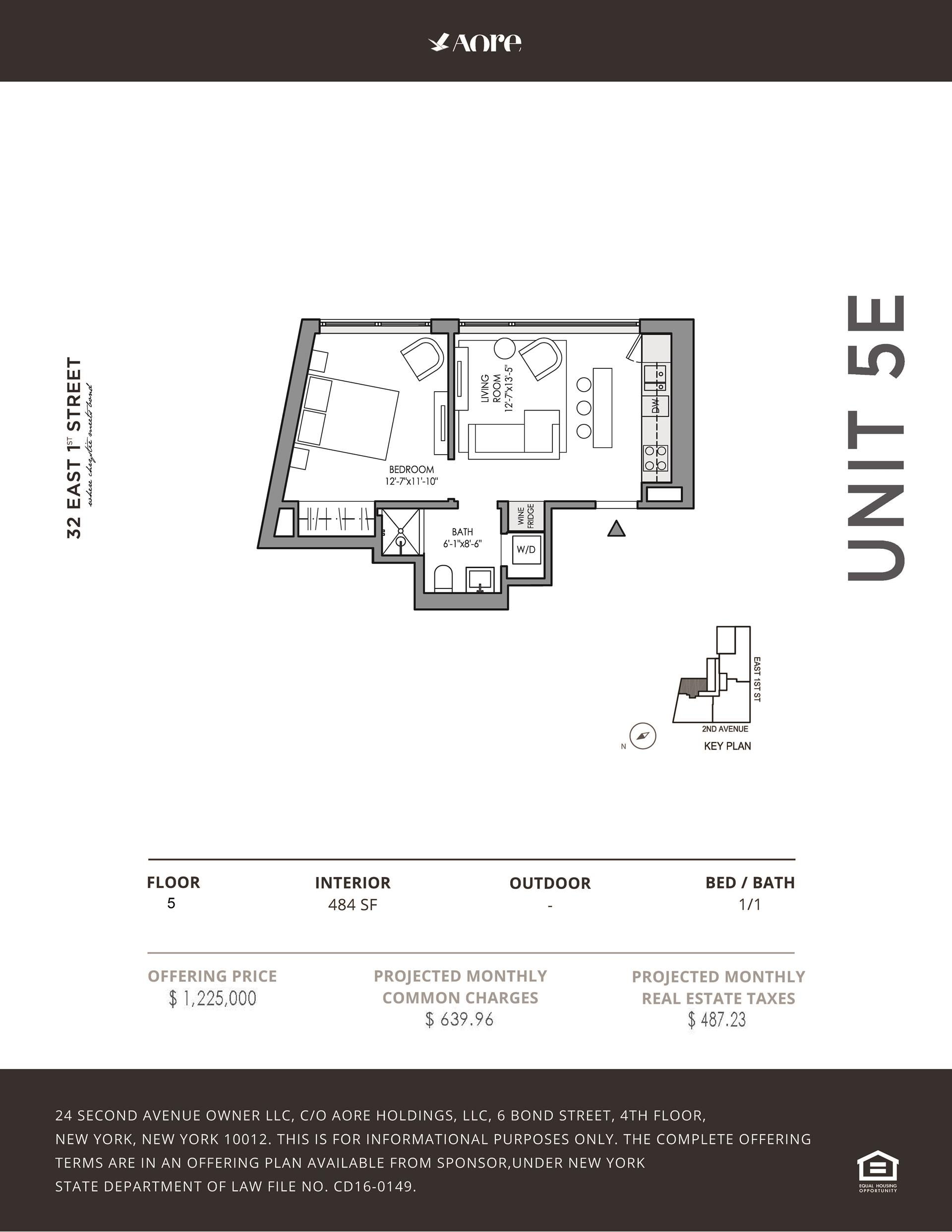 Floor plan of 32 East 1st St, 5E - East Village, New York