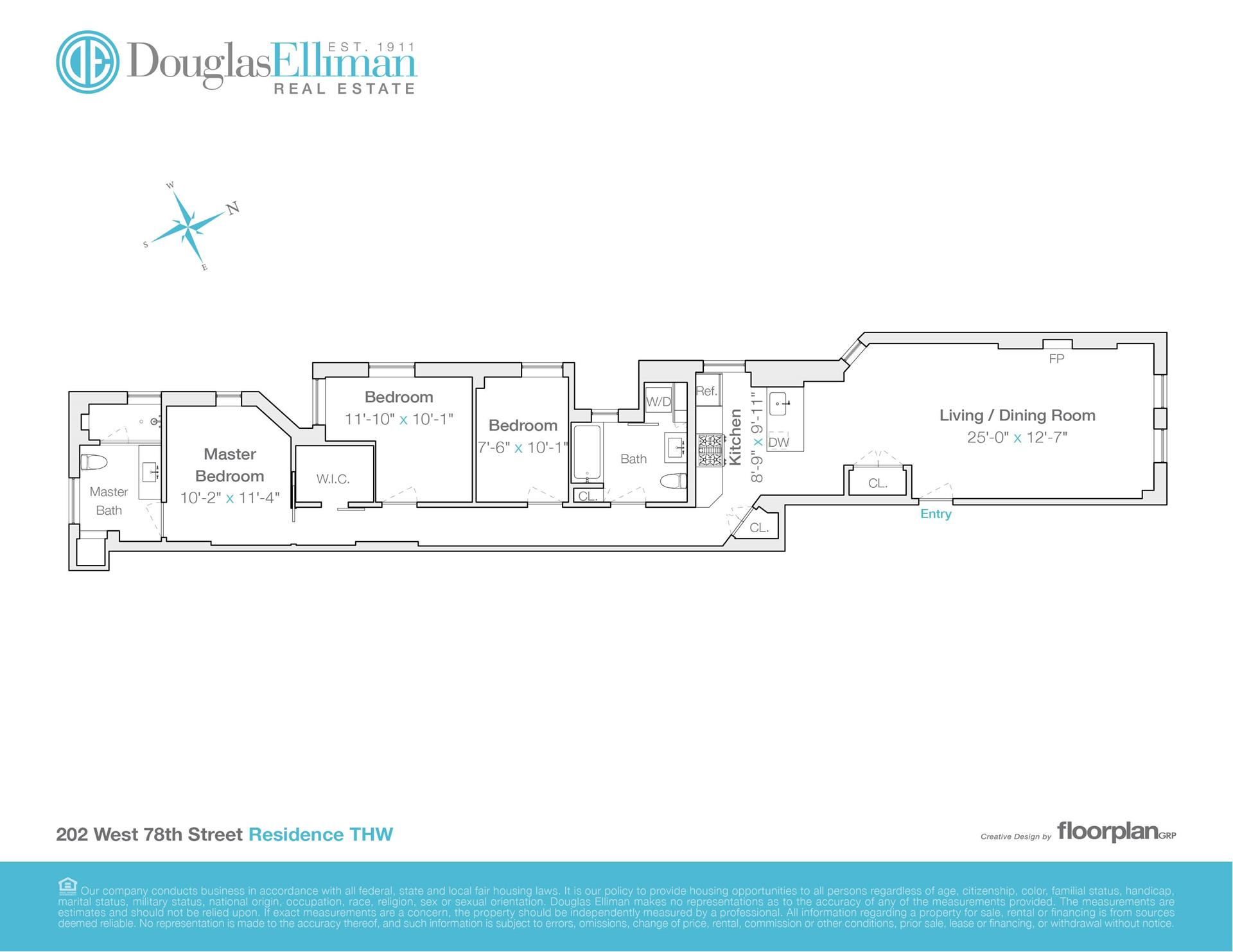 Floor plan of 202 West 78th St, THW - Upper West Side, New York