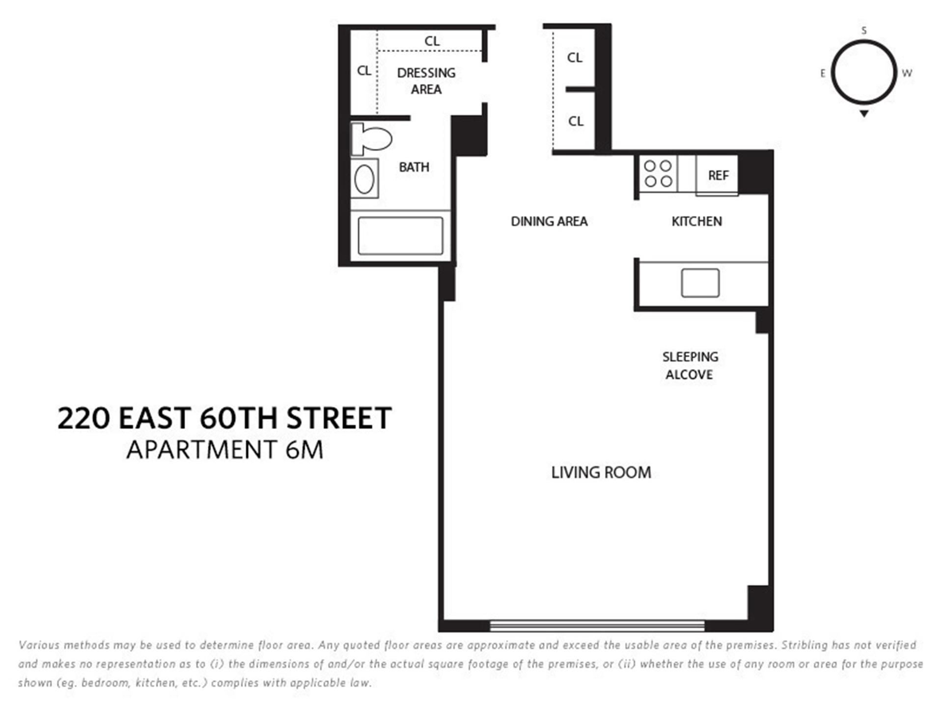 Floor plan of COLONNADE EAST, 220 East 60th St, 6M - Upper East Side, New York