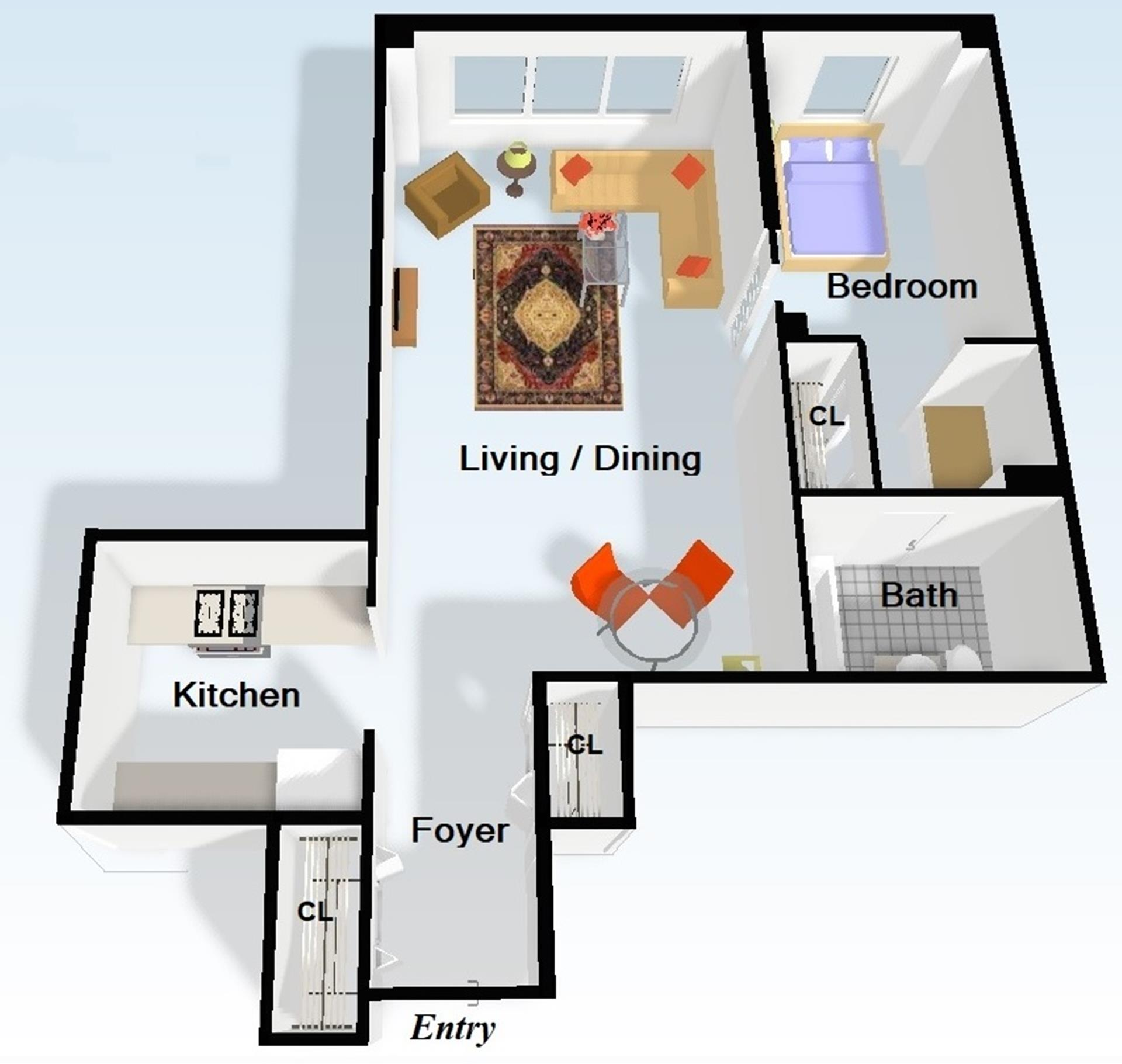 Floor plan of The Caravelle, 445 East 86th St, 16C - Upper East Side, New York