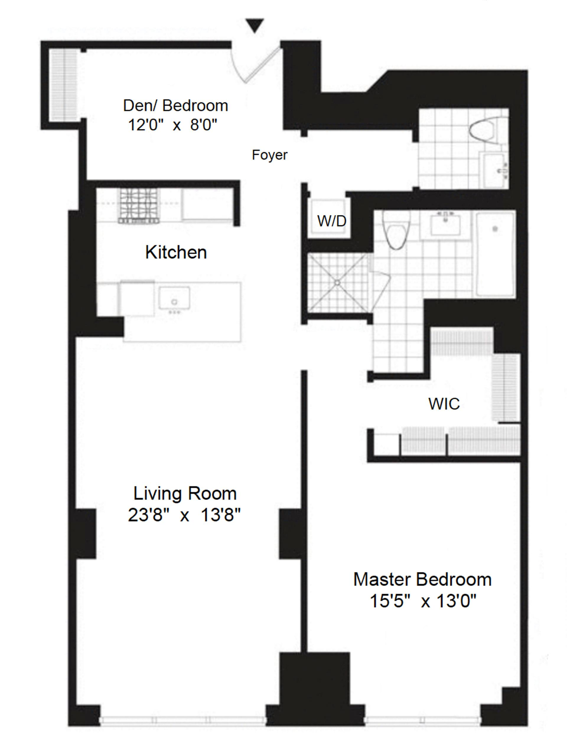 Floor plan of AZURE, 333 East 91st St, 4B - Upper East Side, New York