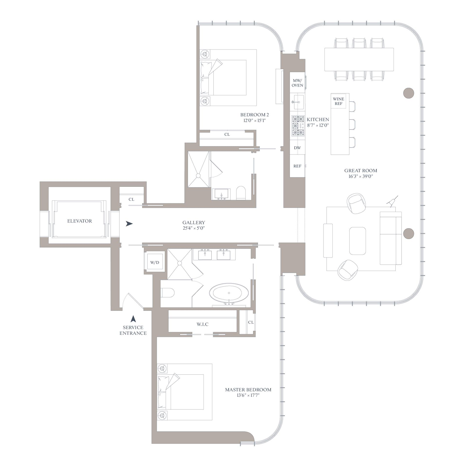 Floor plan of 565 Broome St, N23B - SoHo - Nolita, New York