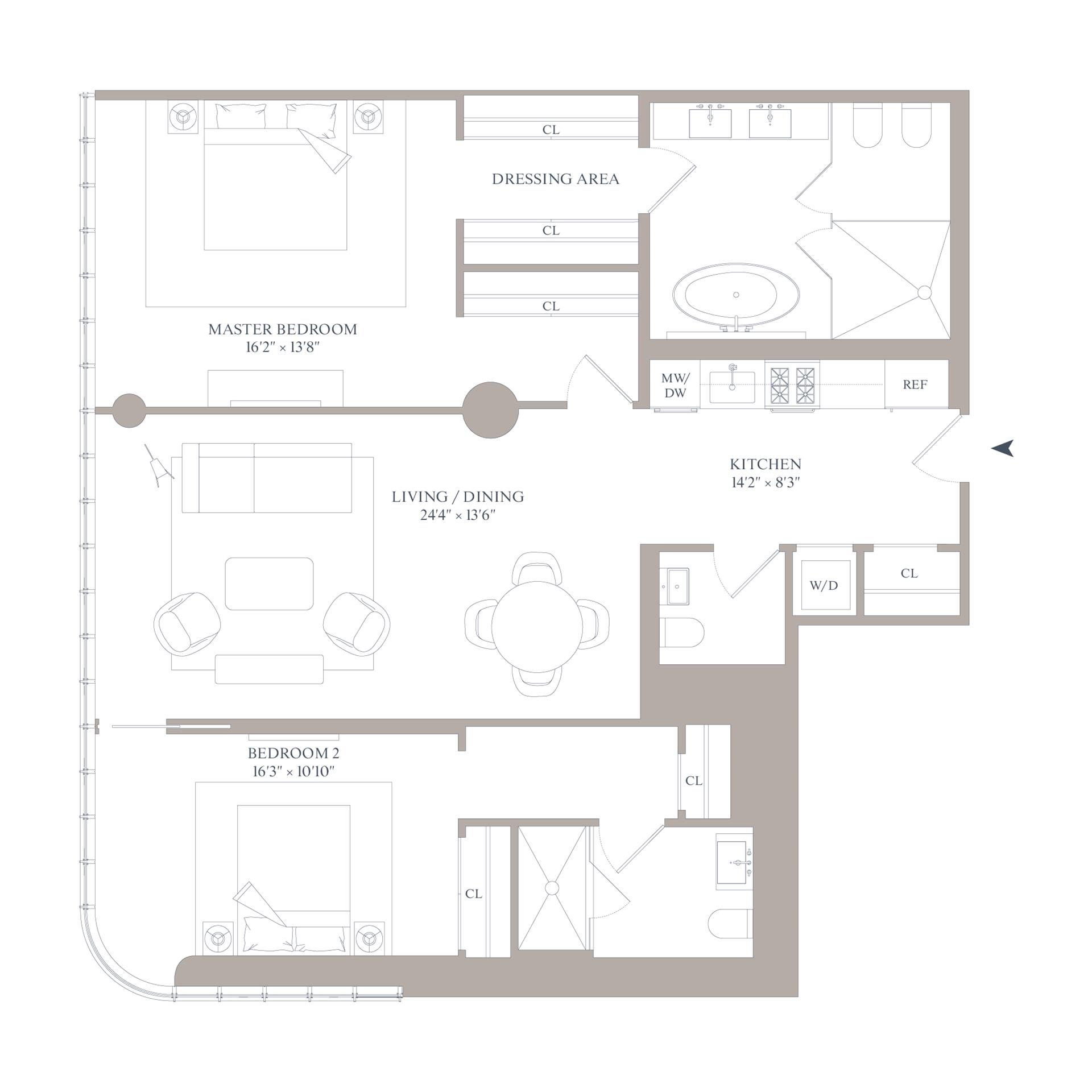 Floor plan of 565 Broome St, N12A - SoHo - Nolita, New York