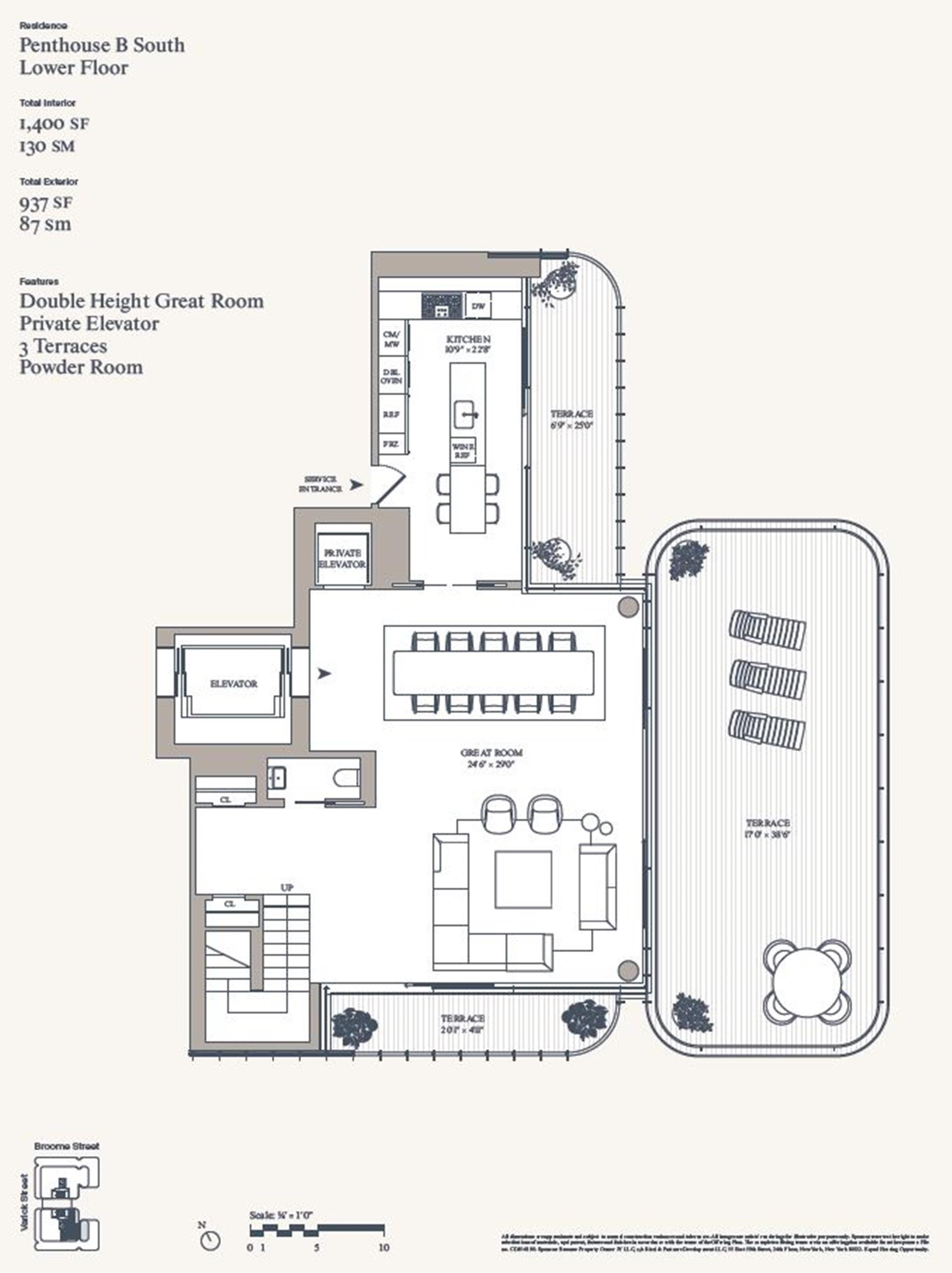Floor plan of 565 Broome St, SPHB - SoHo - Nolita, New York