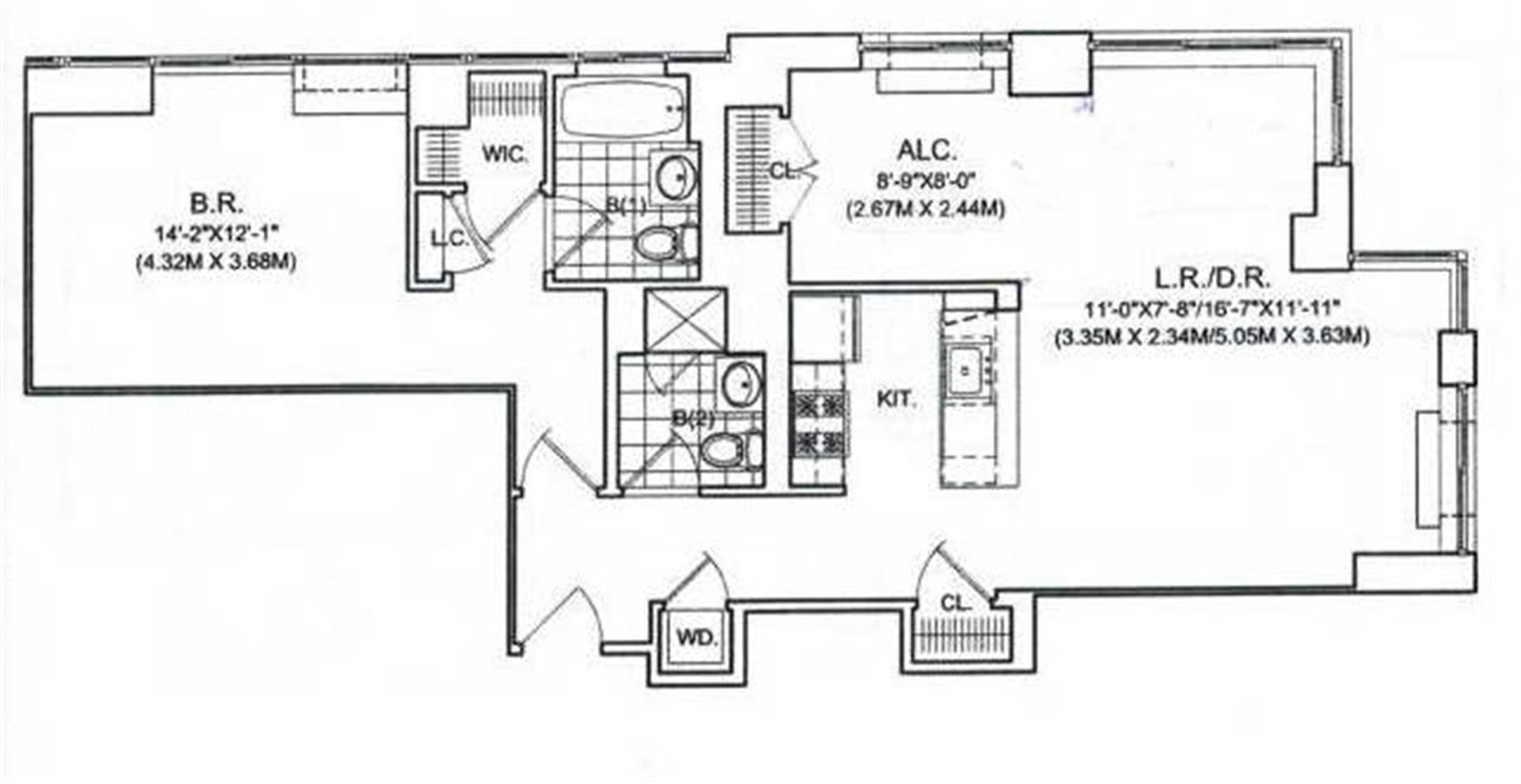 Floor plan of 107-24 71st Rd, PH1A - Forest Hills, New York