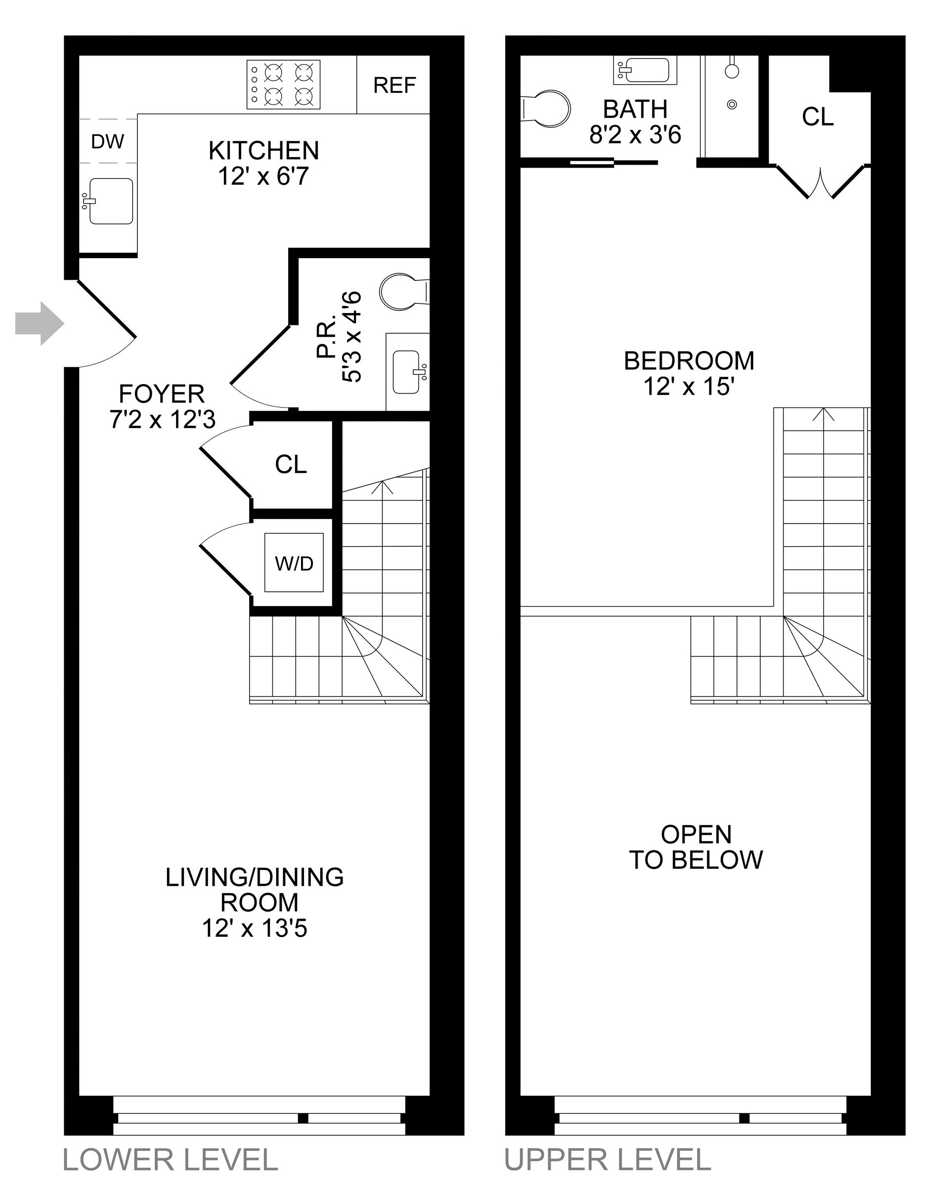 Floor plan of 299 Van Buren Street, 2C - Bedford - Stuyvesant, New York