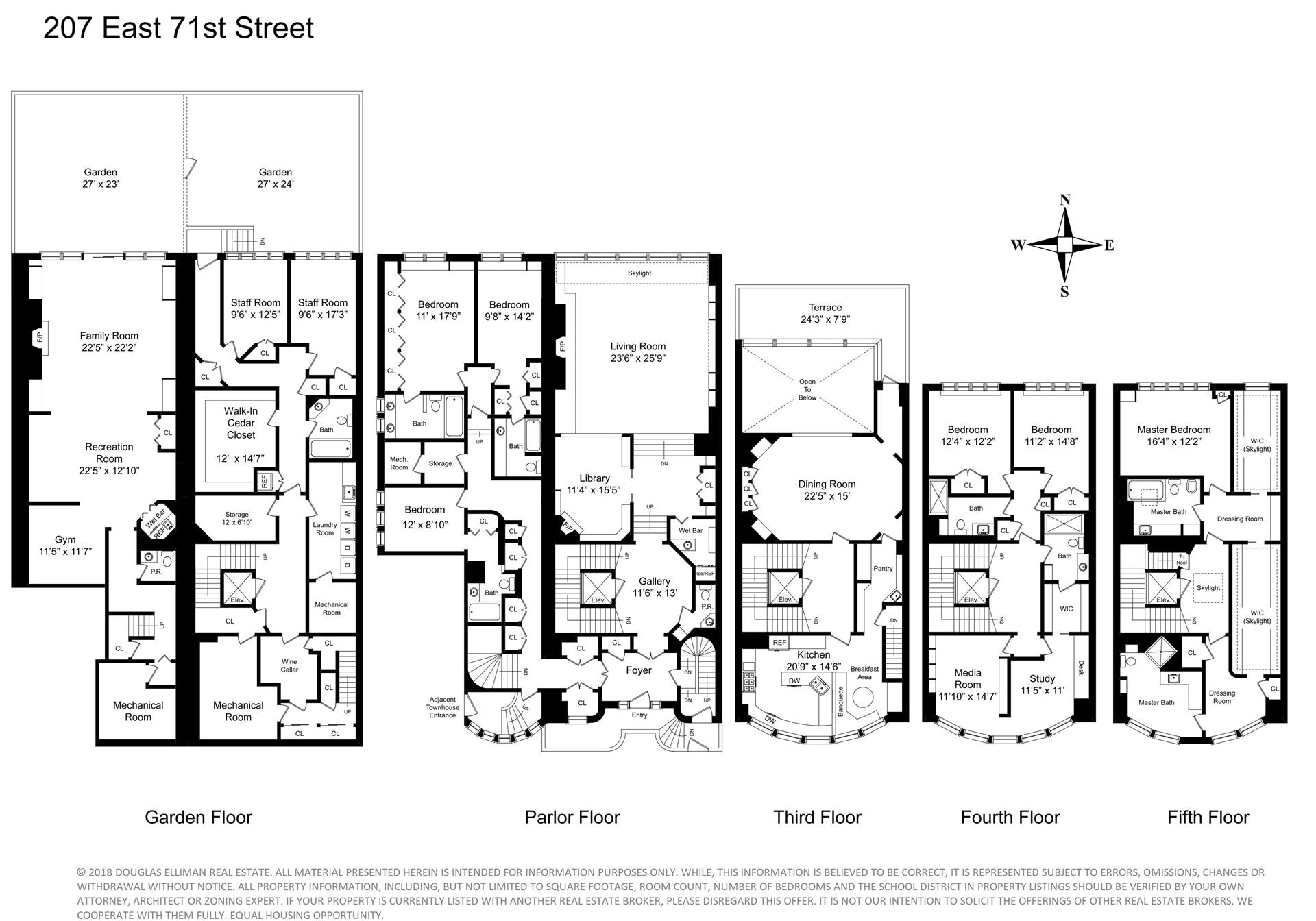 Floor plan of 207 East 71st St - Upper East Side, New York