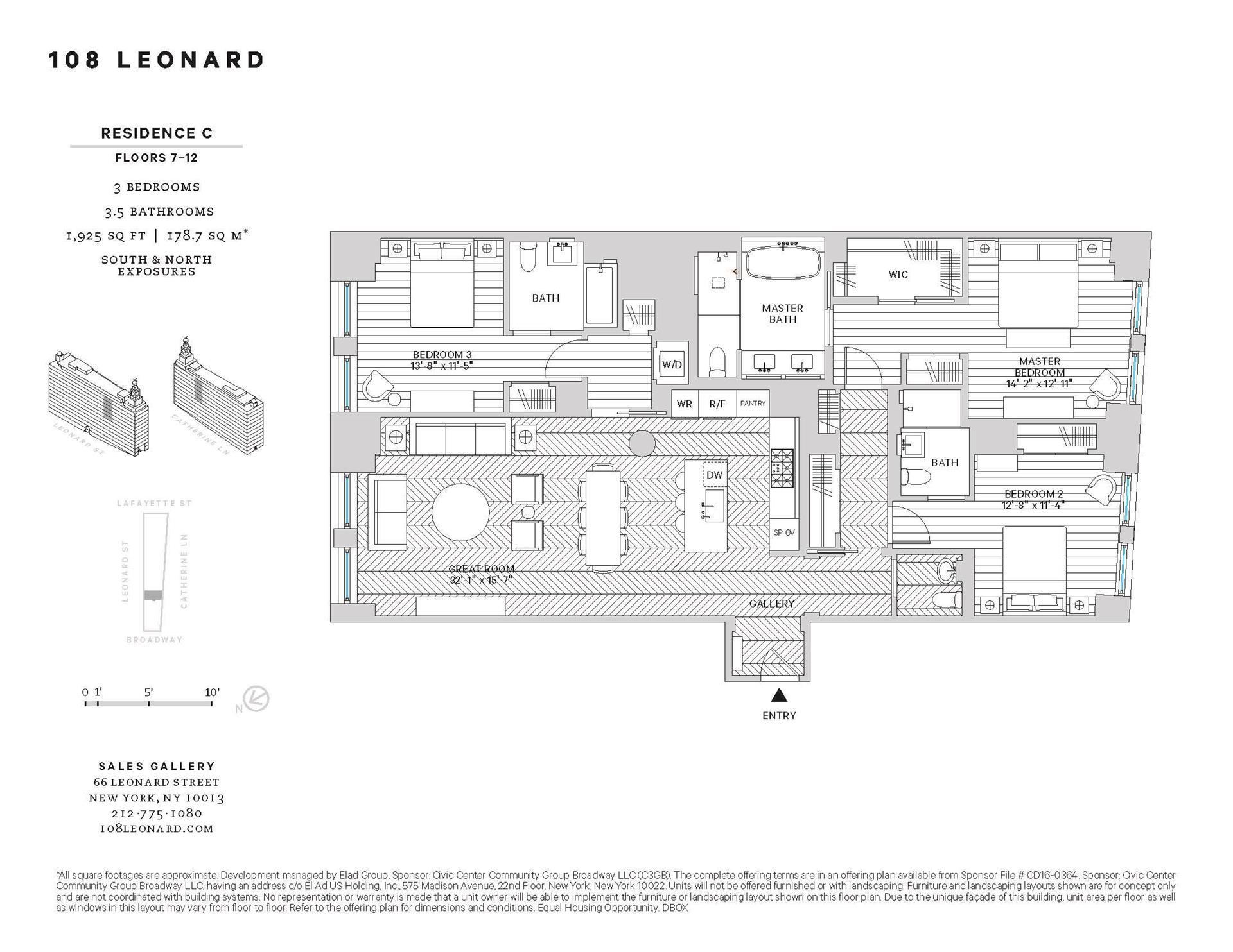 Floor plan of 108 Leonard St, 7C - TriBeCa, New York