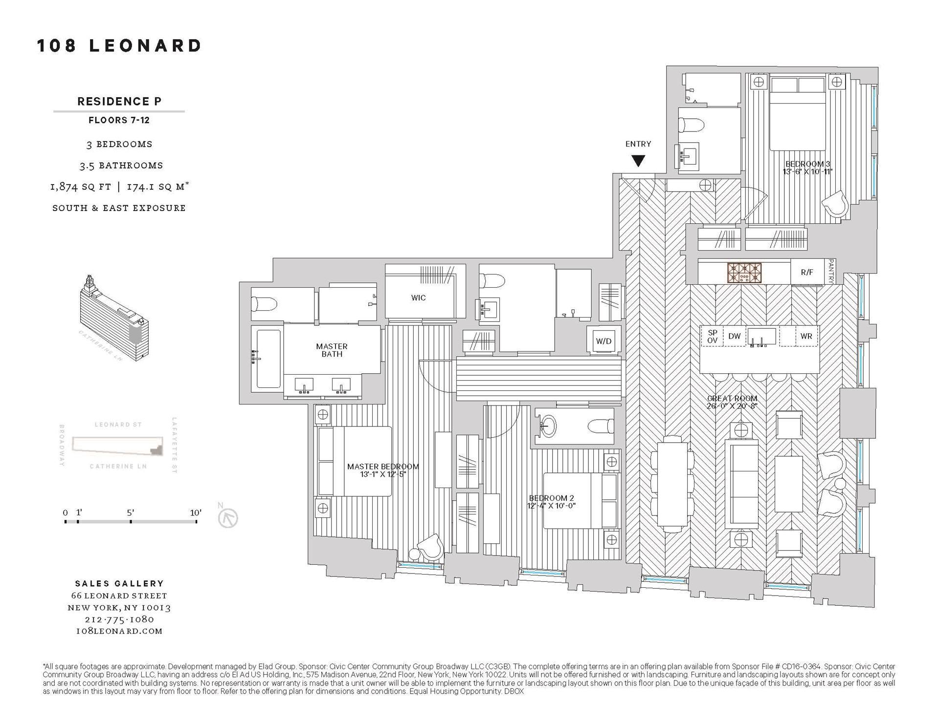 Floor plan of 108 Leonard St, 8P - TriBeCa, New York