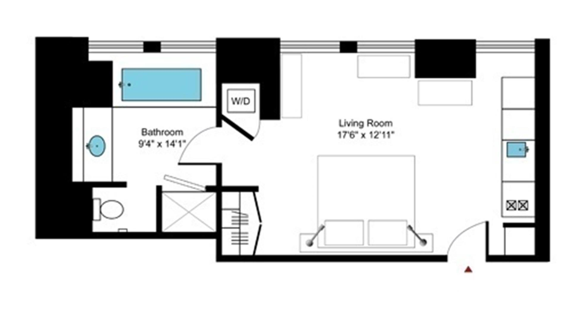 Floor plan of Cipriani Club Residences, 55 Wall St, 733 - Financial District, New York