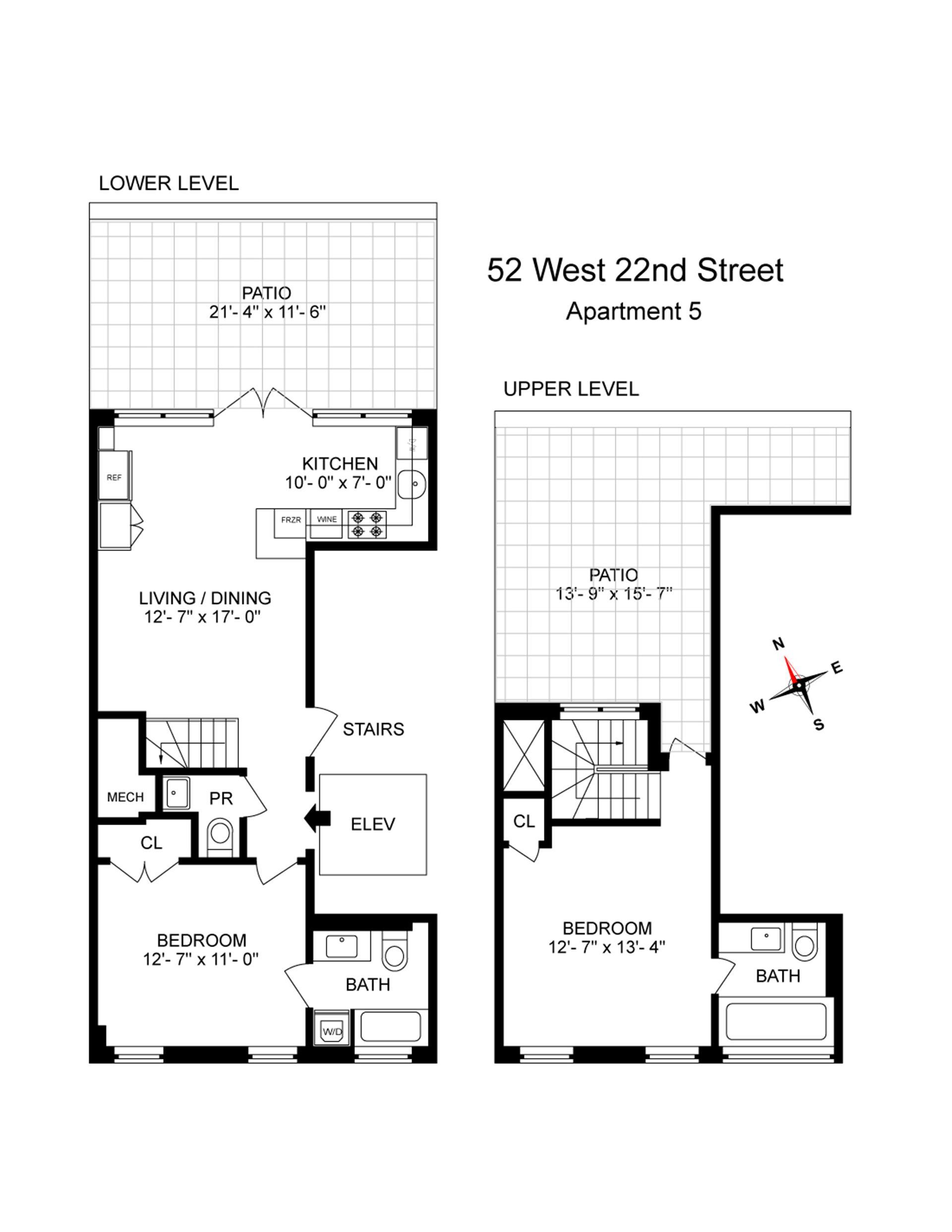 Floor plan of 52 West 22nd St, PH - Flatiron District, New York