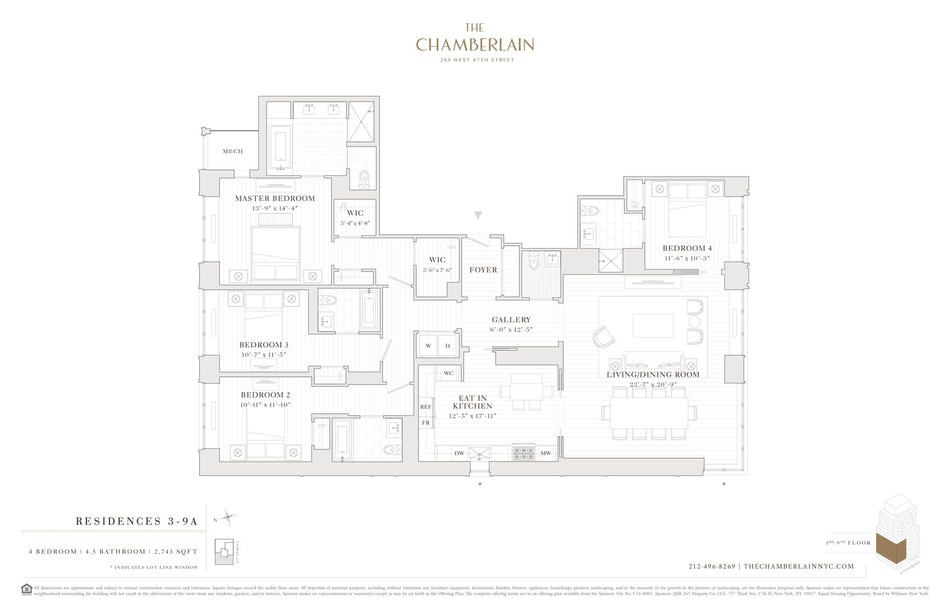 Floor plan of 269 West 87th St, 8A - Upper West Side, New York