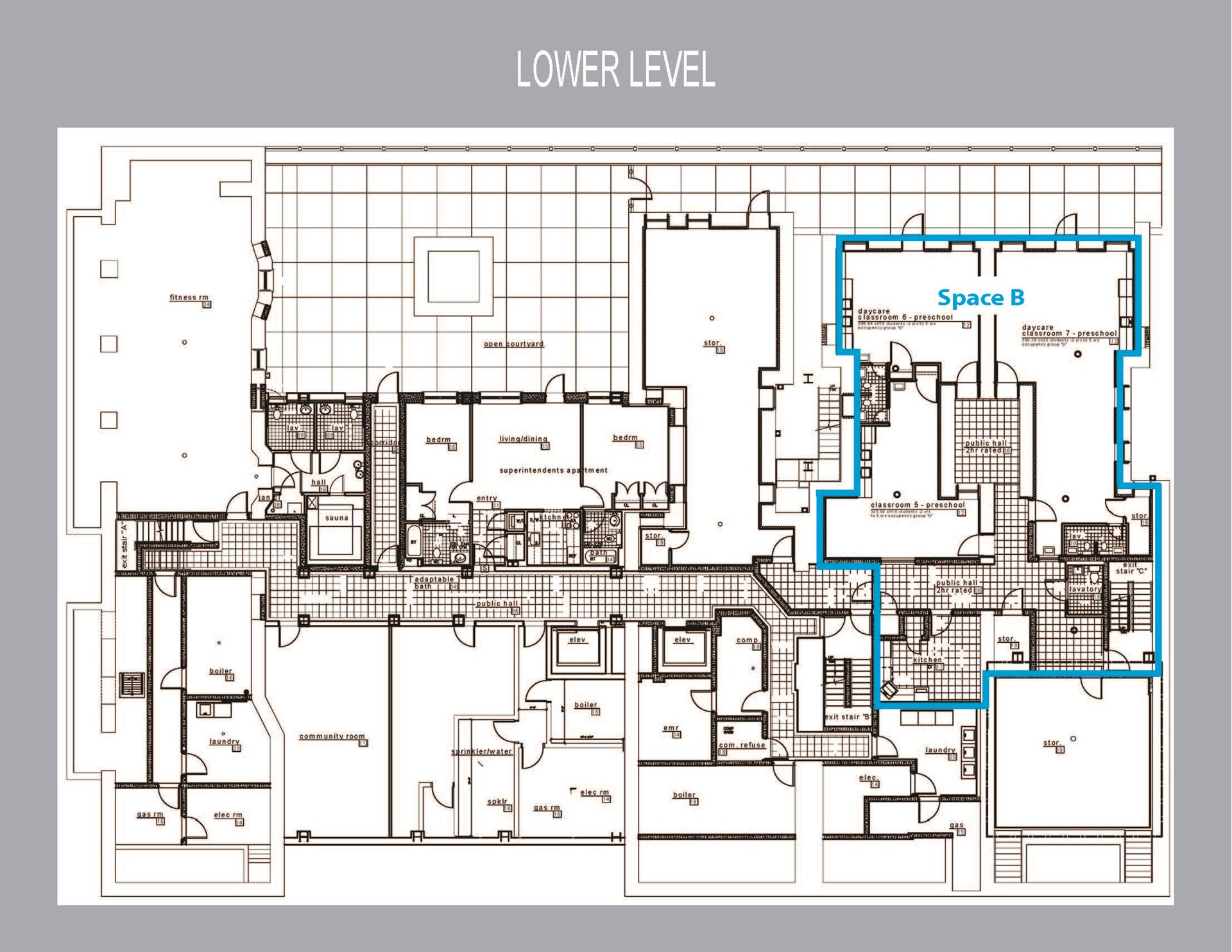 Floor plan of 2094 Frederick Douglass Boulevard, RETAIL - Harlem, New York