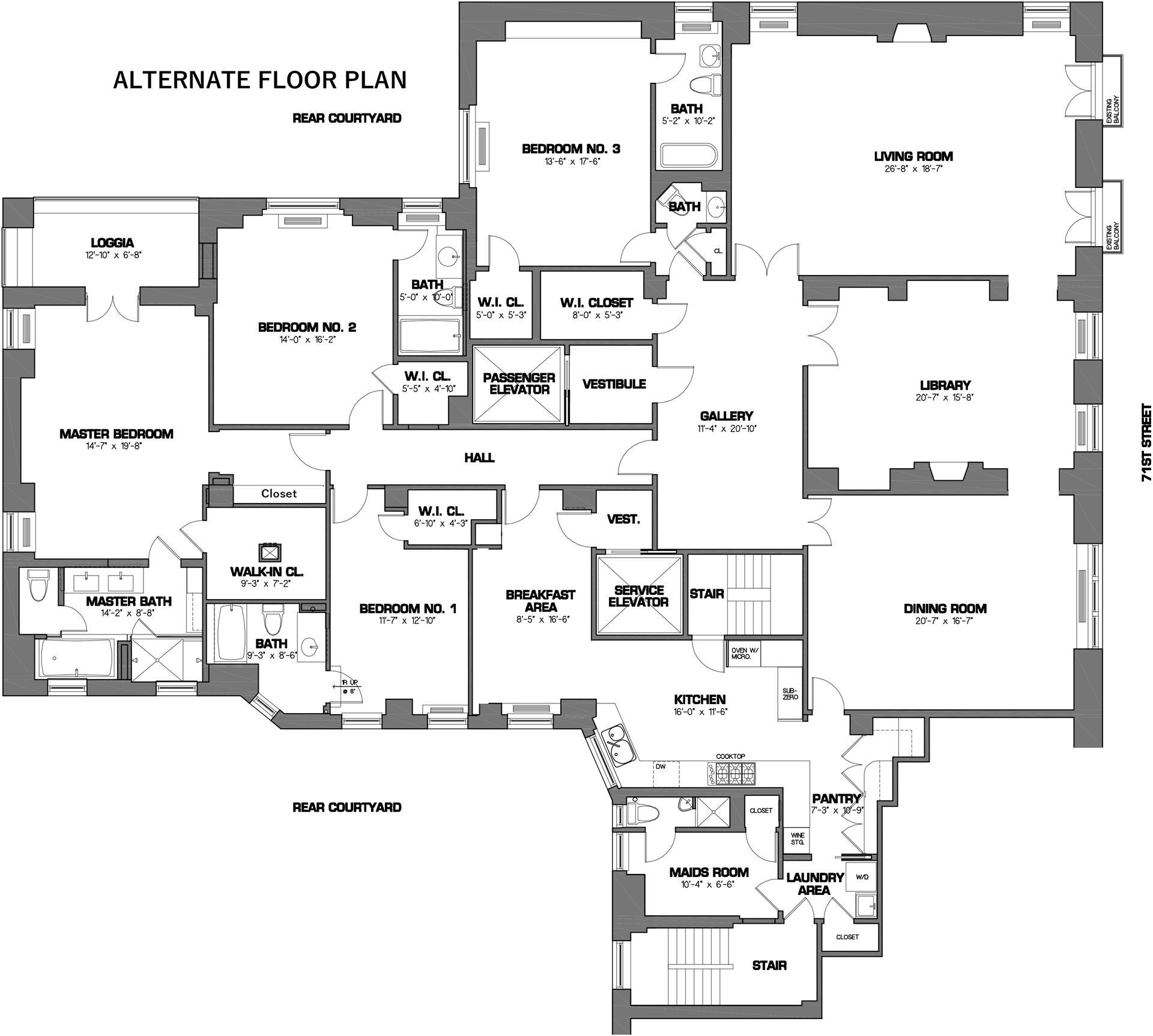Floor plan of 730 Park Avenue, 7C - Upper East Side, New York